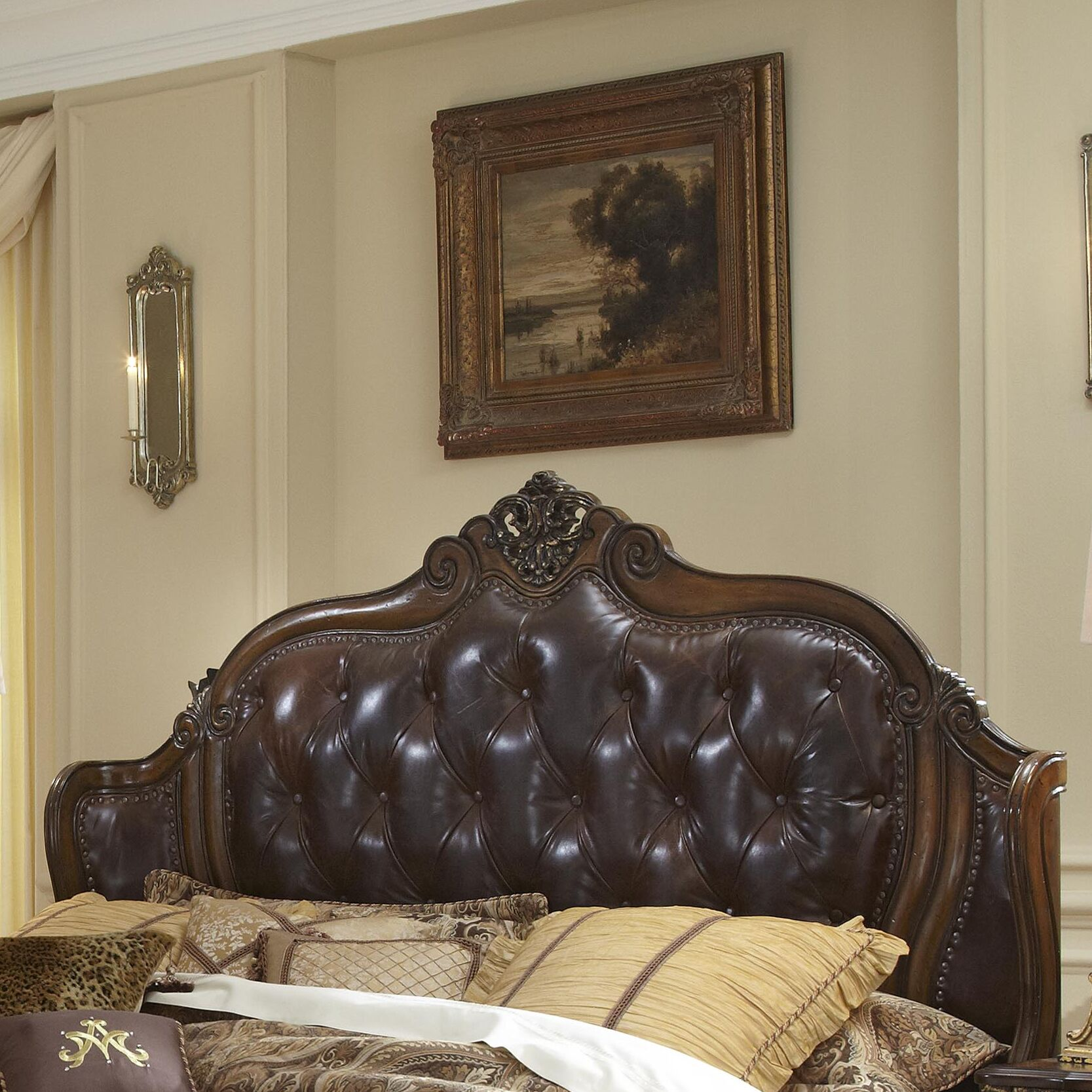 Lavelle Mansion Upholstered Wingback Headboard Size: California King