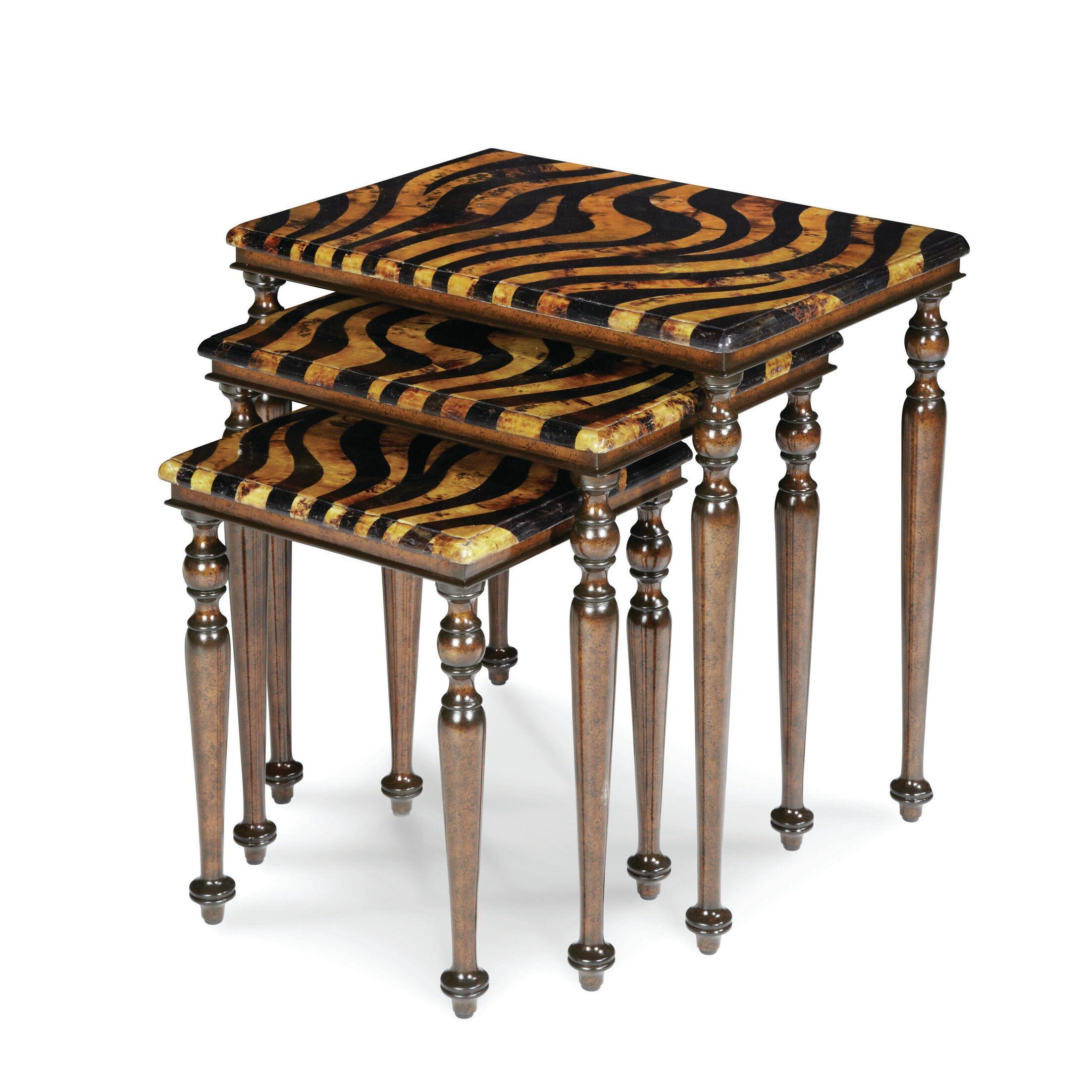 Discoveries Zebra 3 Piece Nesting Tables