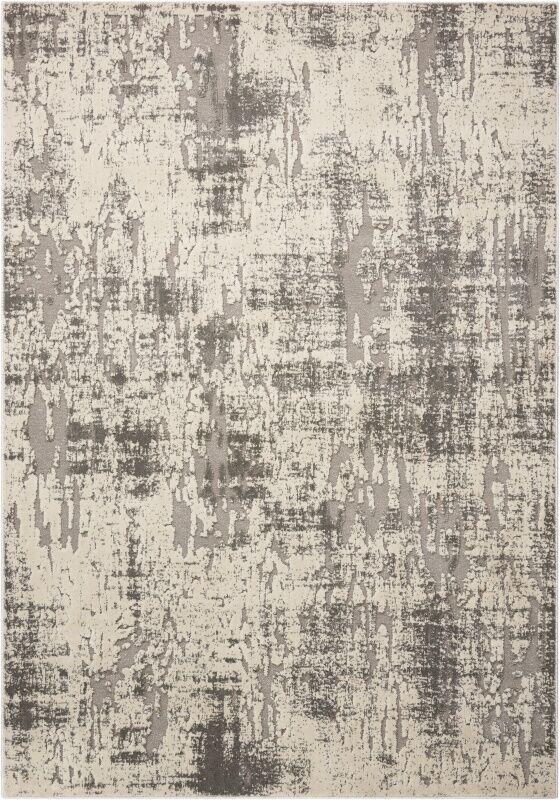 Gleam Ivory/Gray Area Rug Rug Size: Rectangle 9'3
