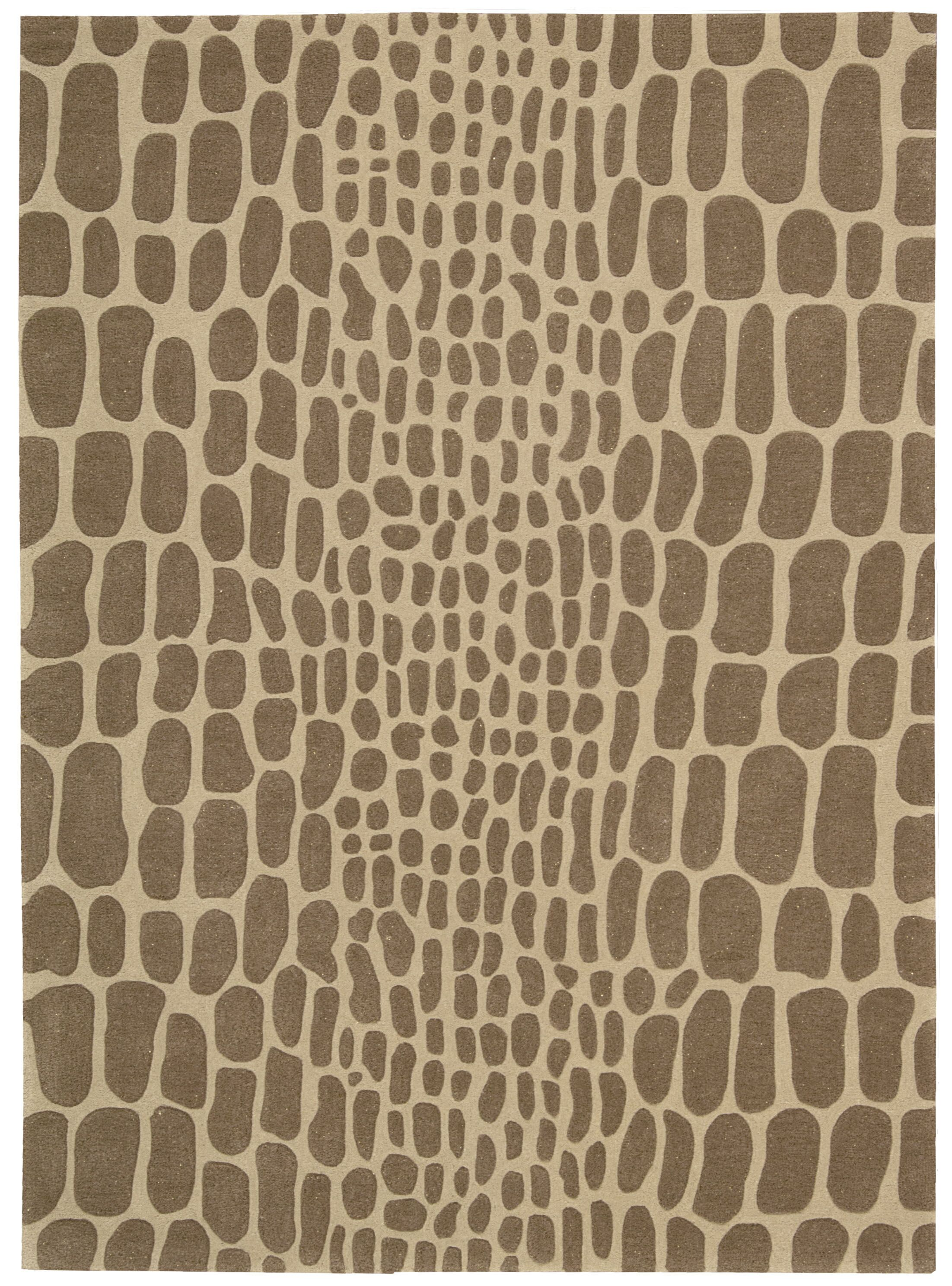 Zambiana Hand-Tufted Brown Area Rug Rug Size: Rectangle 9'3