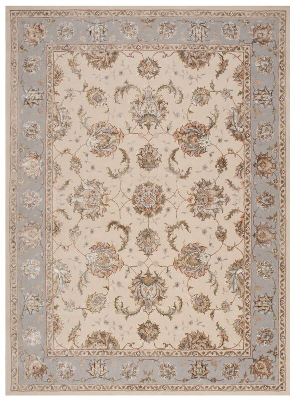Serenade Hand Woven Ivory/Gray Area Rug Rug Size: Rectangle 8' X 11'
