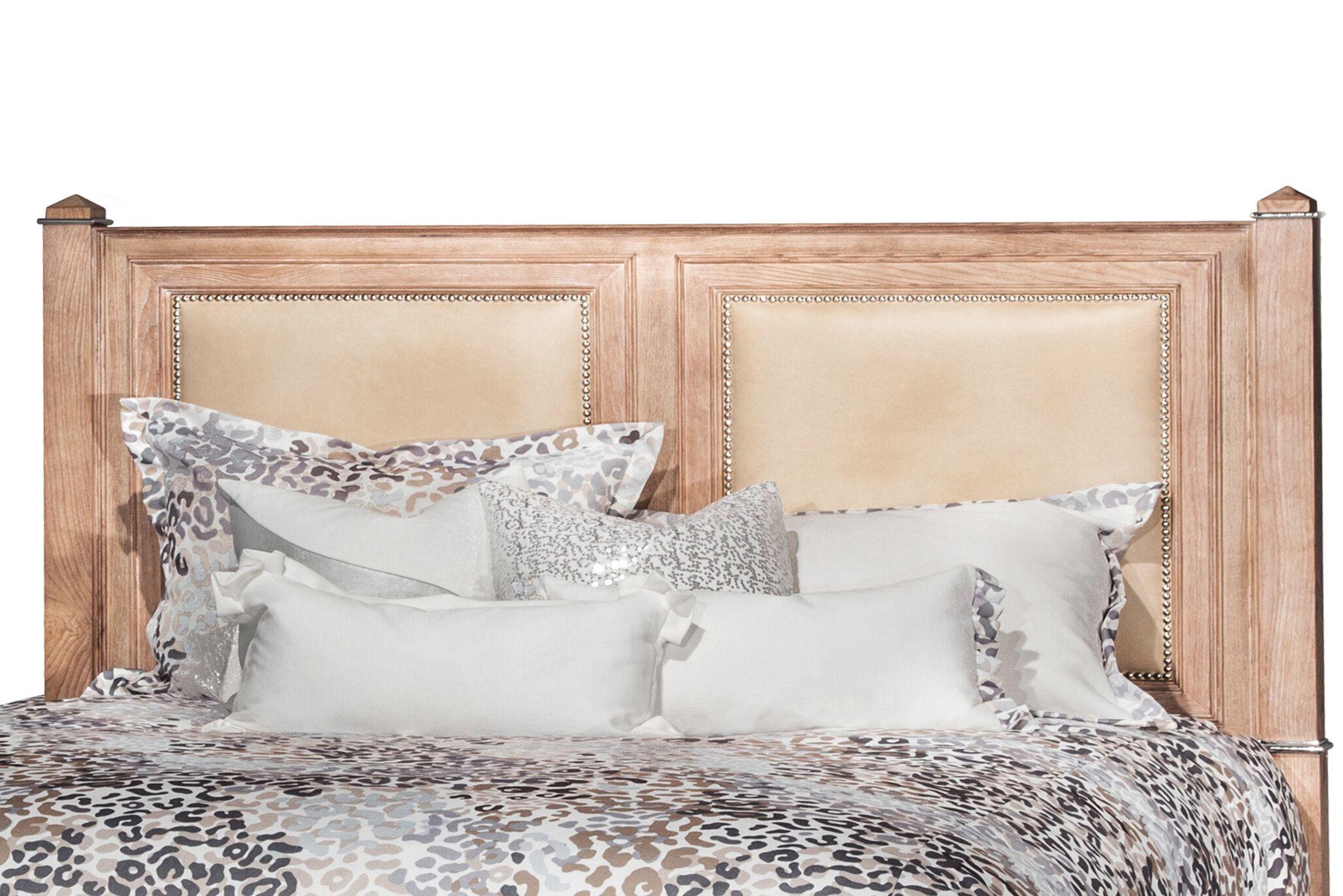 Biscayne West Upholstered Panel Headboard Color: Sand, Size: King