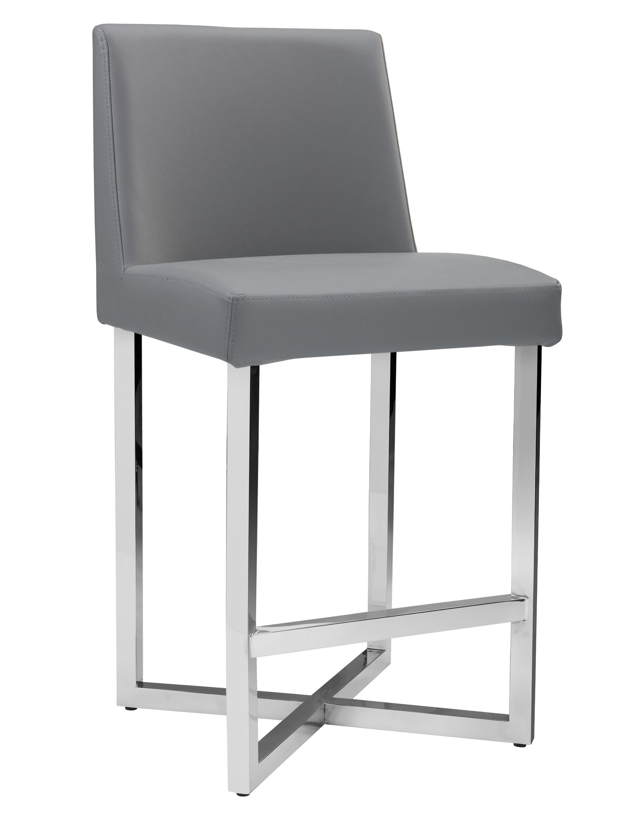 Bridgwater Howard Bar Stool Upholstery: Grey