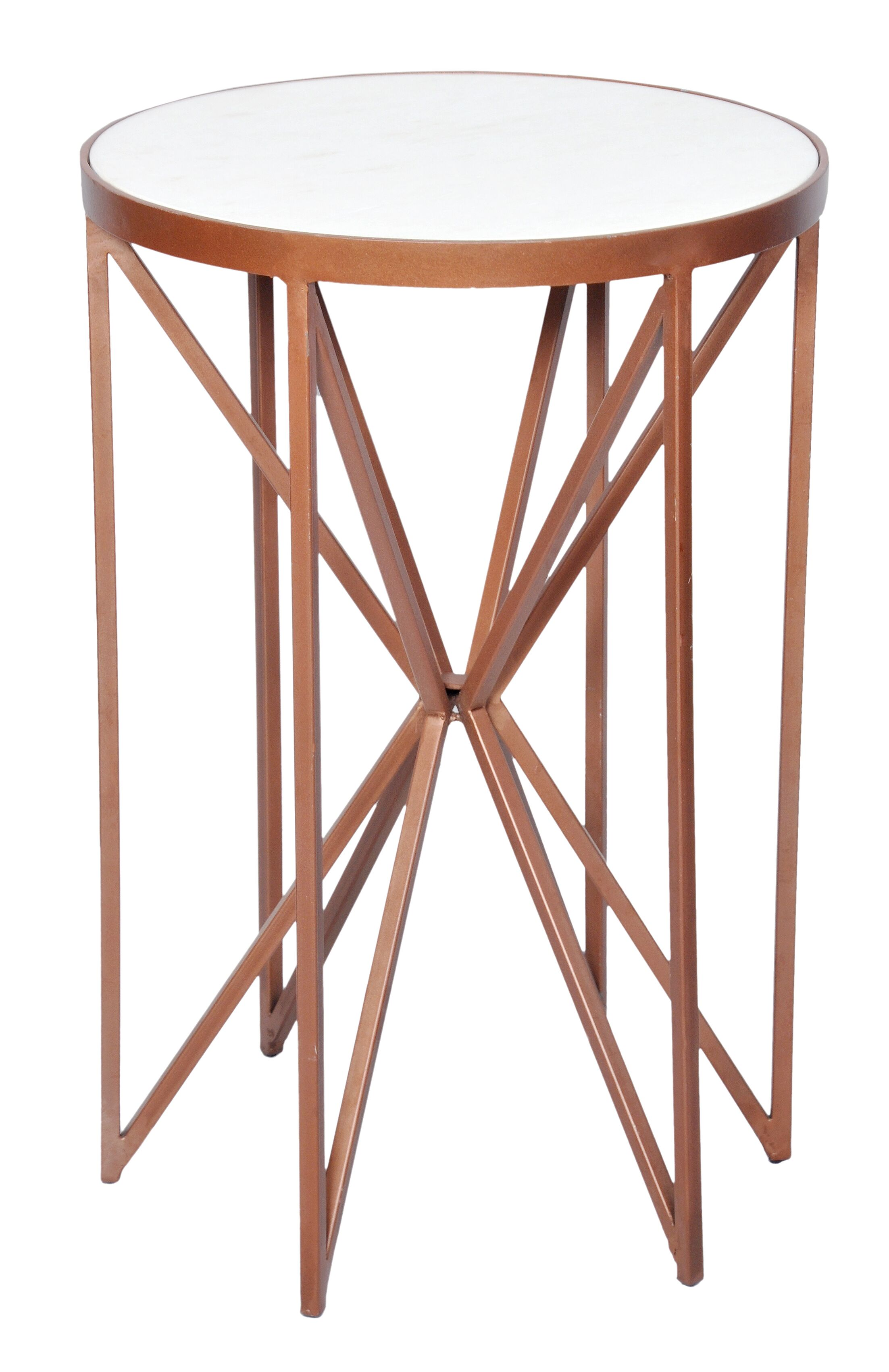 Aquarius Butterfly End Table Color: Dusty Copper