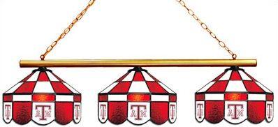 NCAA 3-Light Pool Table Light Style: Executive, NCAA Team: Texas A&M