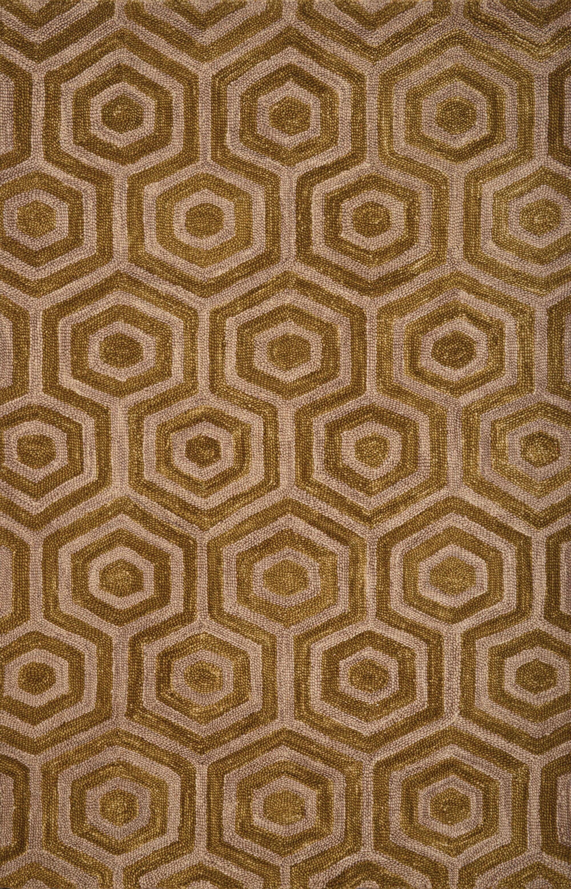Adelheide Chartreuse/Beige Geometric Rug Rug Size: 5' x 8'