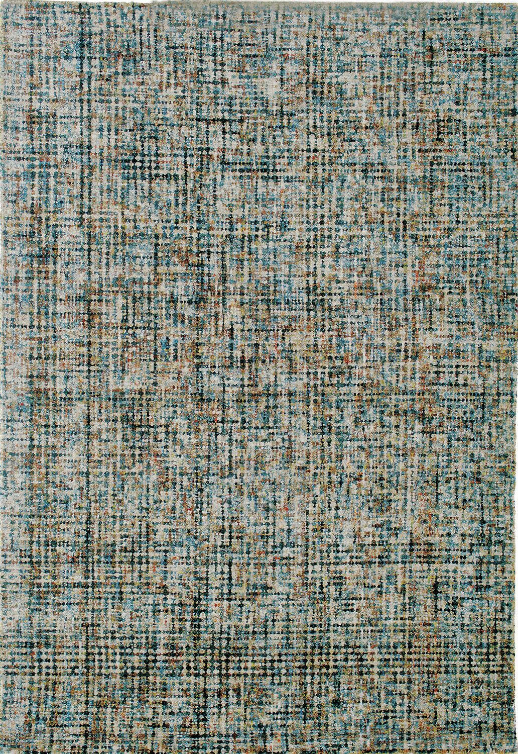 Rowley Hand-Tufted Blue/Brown Area Rug Rug Size: 8' x 10'