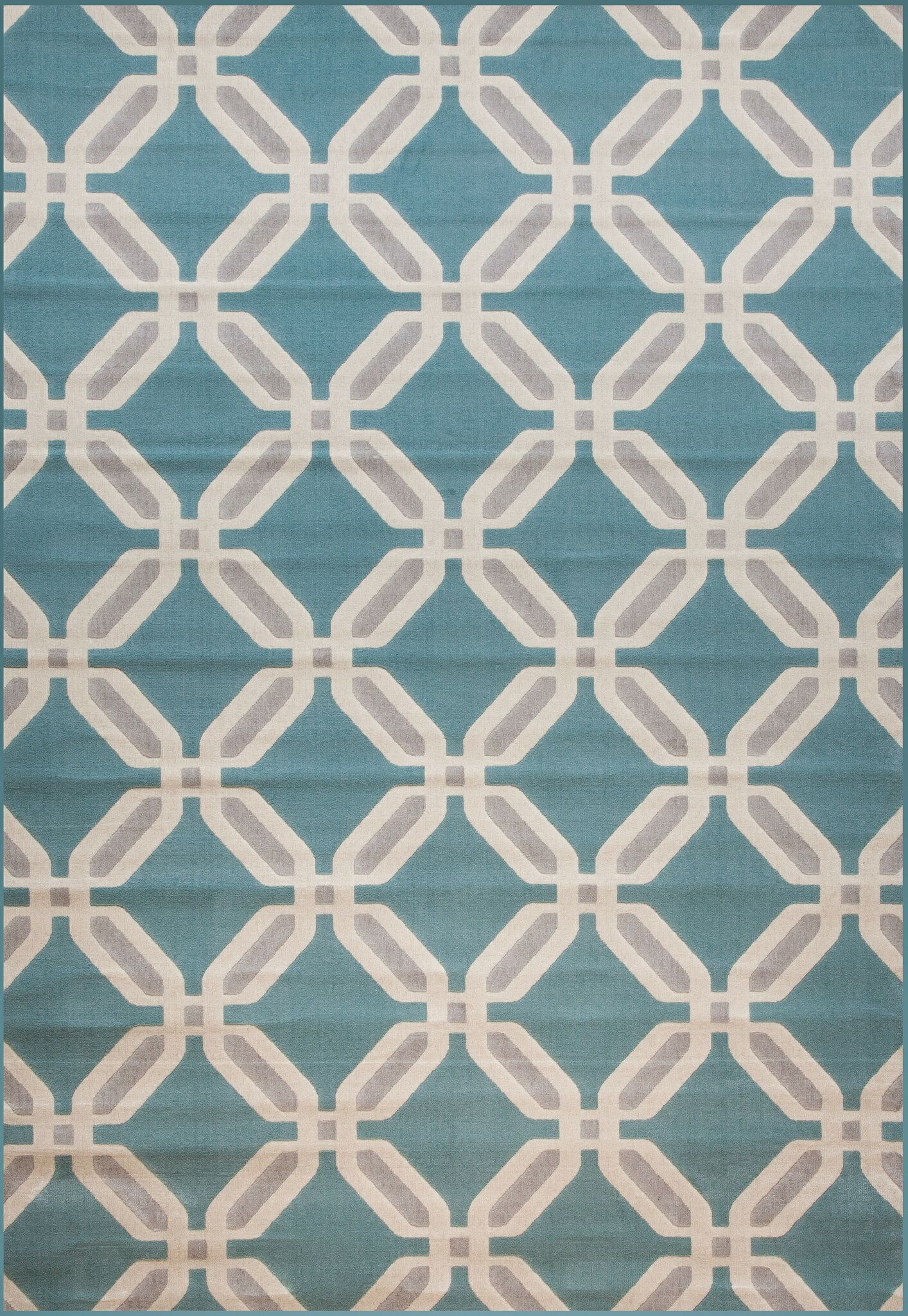 Colesberry Gray/Teal Area Rug Rug Size: 7'9