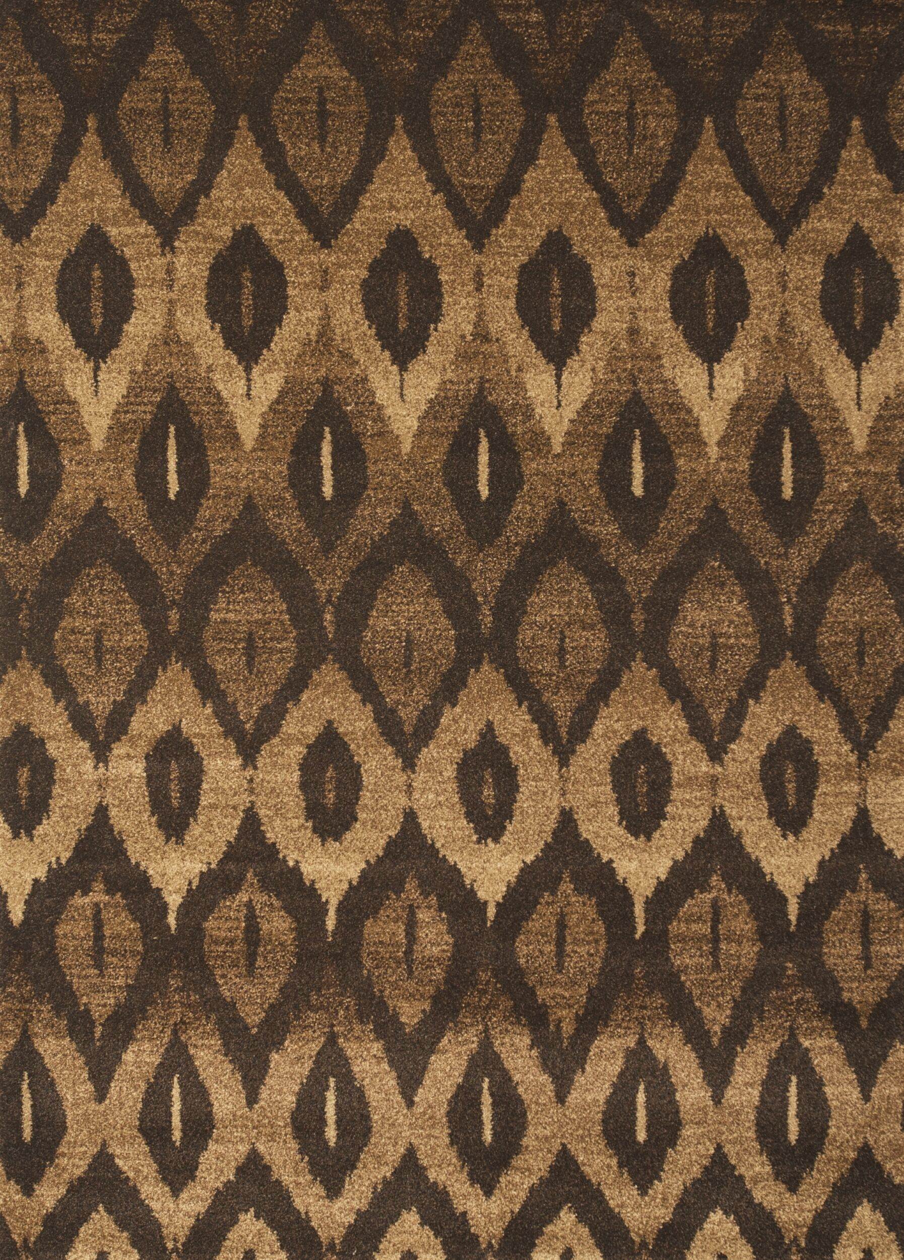 Hilaire Brown Area Rug Rug Size: 5'3
