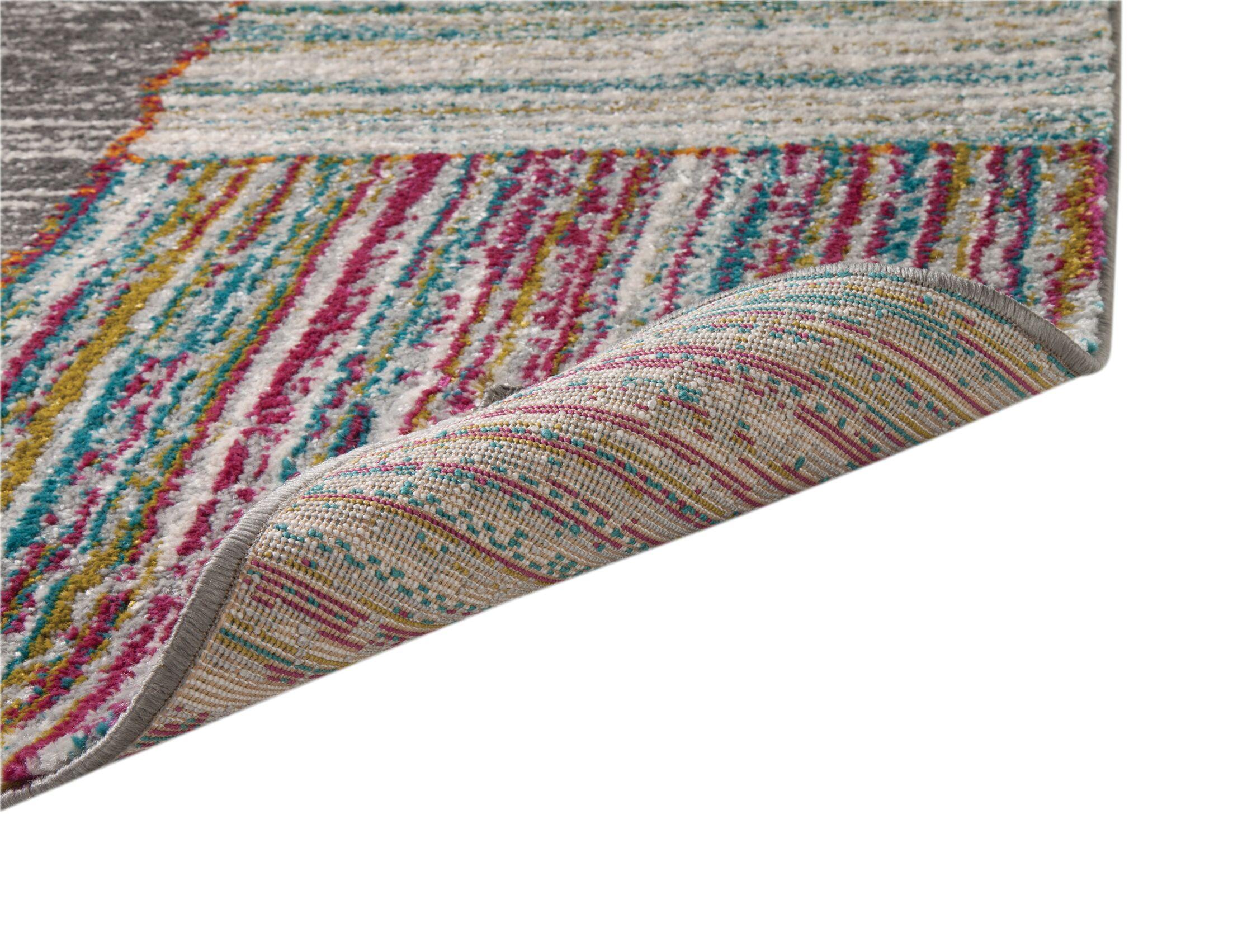 Shurtz Gray/Pink/Blue Area Rug Rug Size: Rectangle 8' x 10'