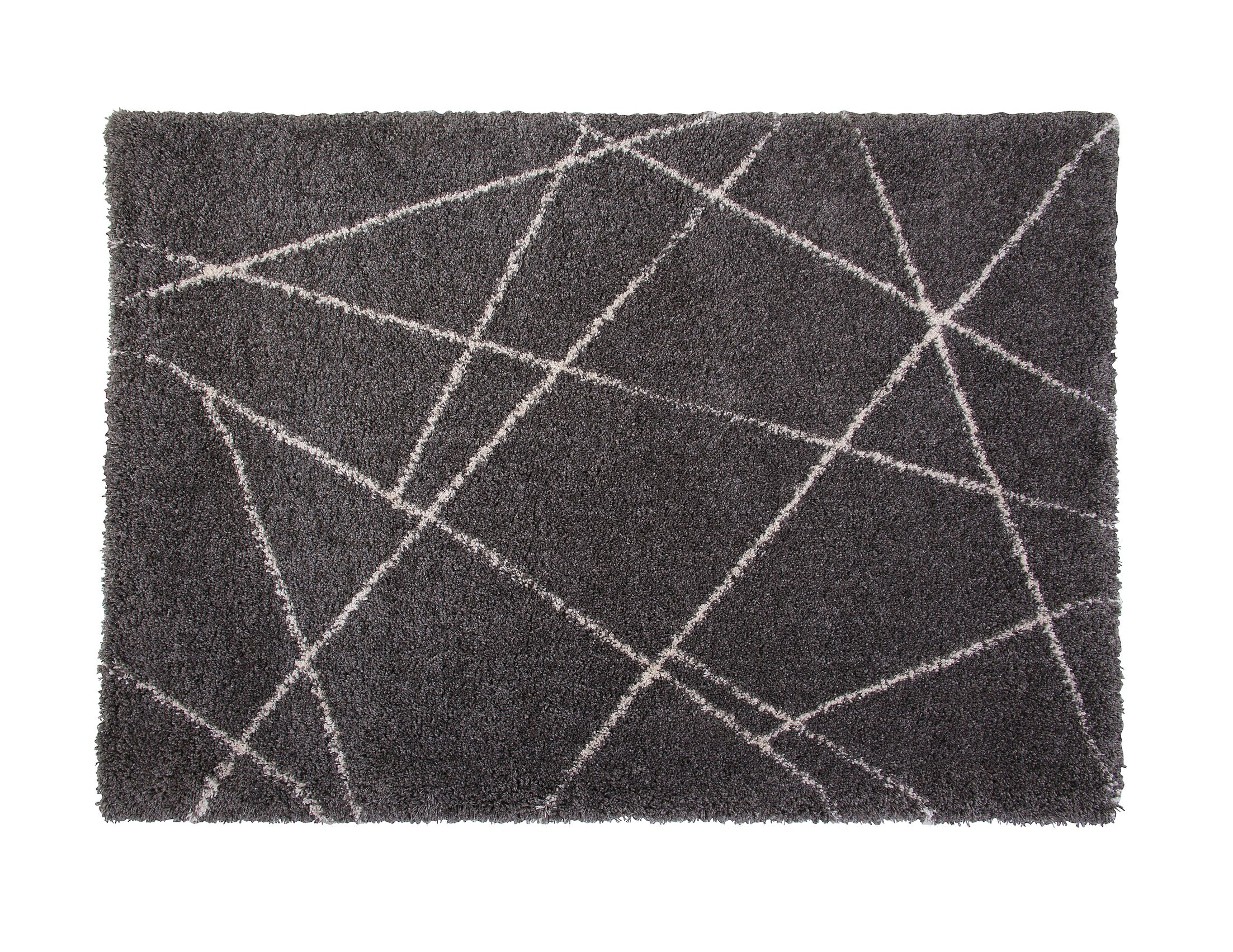 Tefft Charcoal/Ivory Area Rug Rug Size: Rectangle 8' x 10'