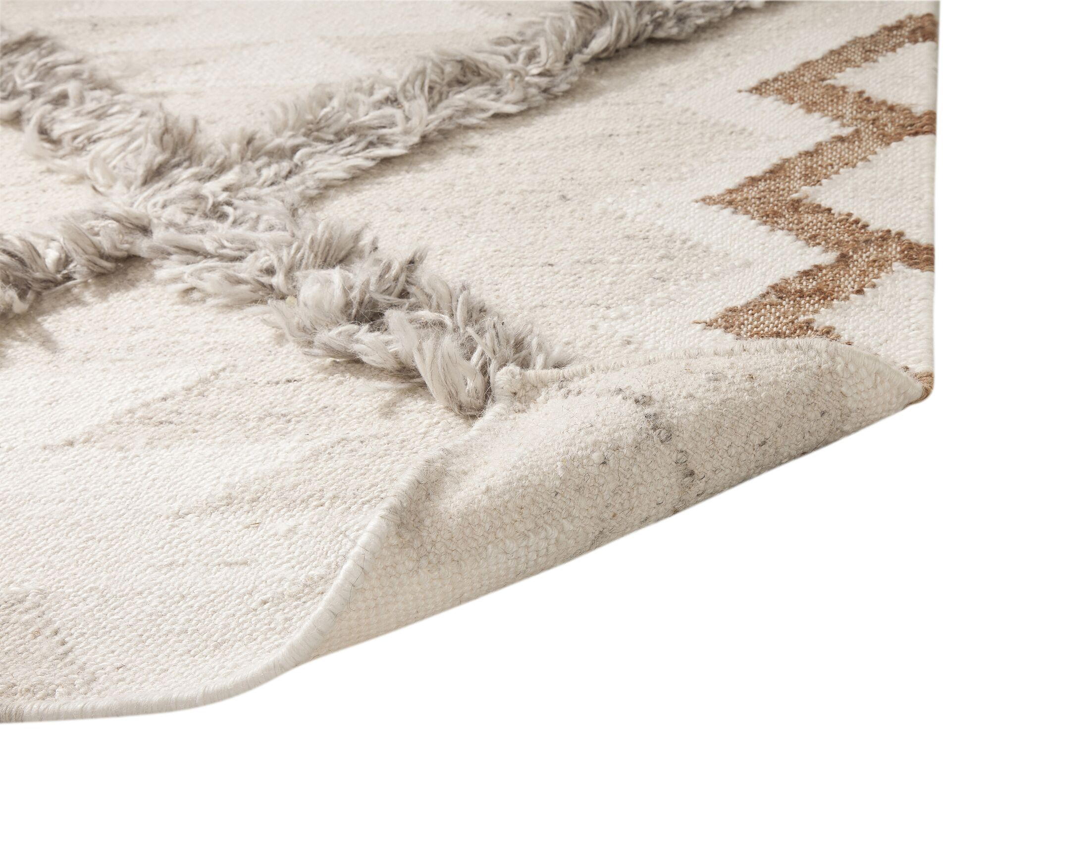 Addison Avenue Hand Woven Wool Gray/Ivory Area Rug Rug Size: Rectangle 5' x 8'