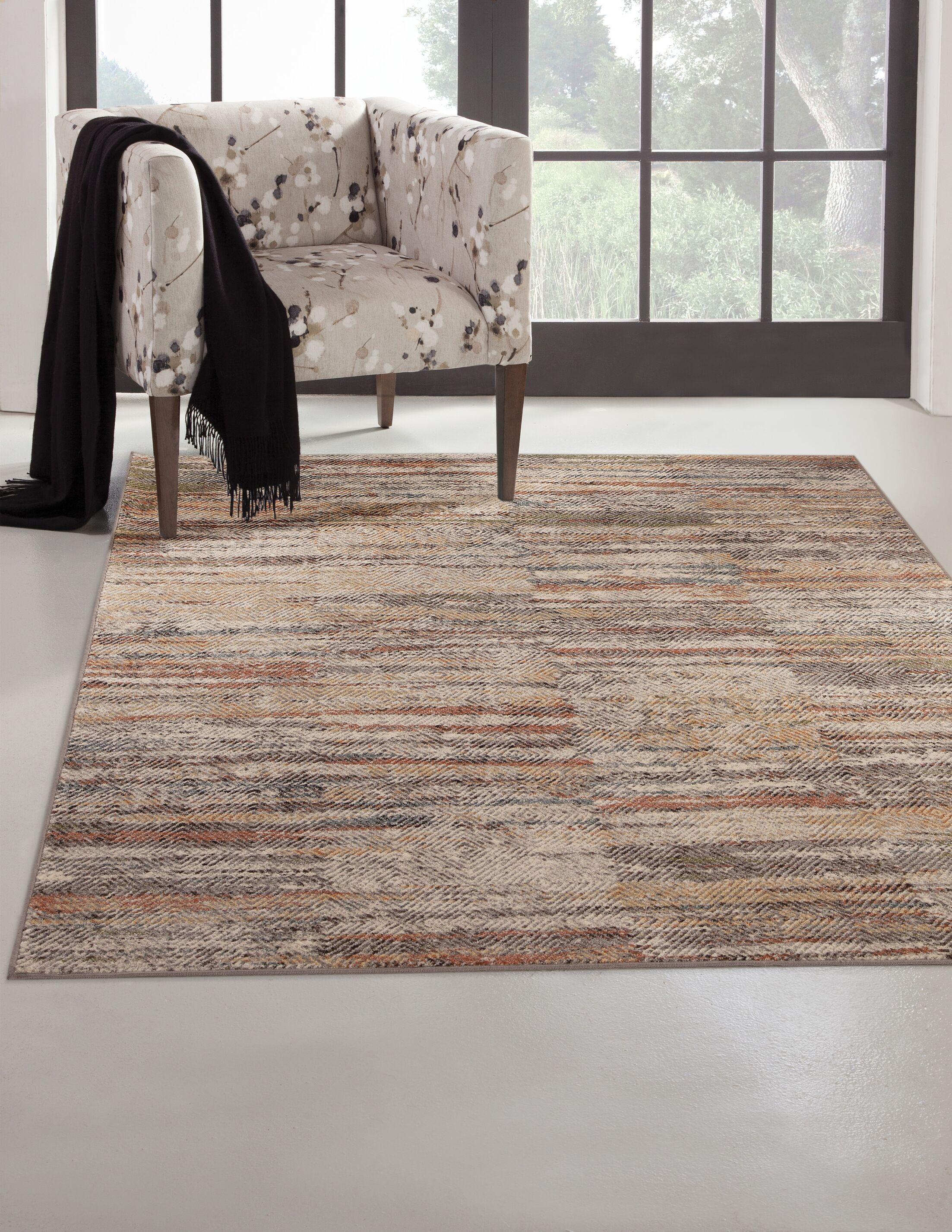 Bryzel Ivory/Gray Area Rug Rug Size: Rectangle 5' x 8'