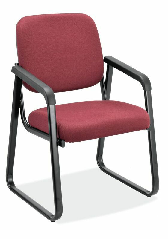 Value Sled Base Guest Chair Arm: Yes, Seat Color: Port Fabric