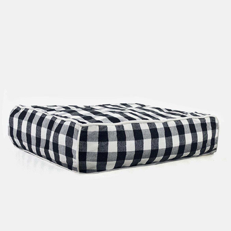 Norrell Buffalo Plaid Square Dog Bed Size: Medium