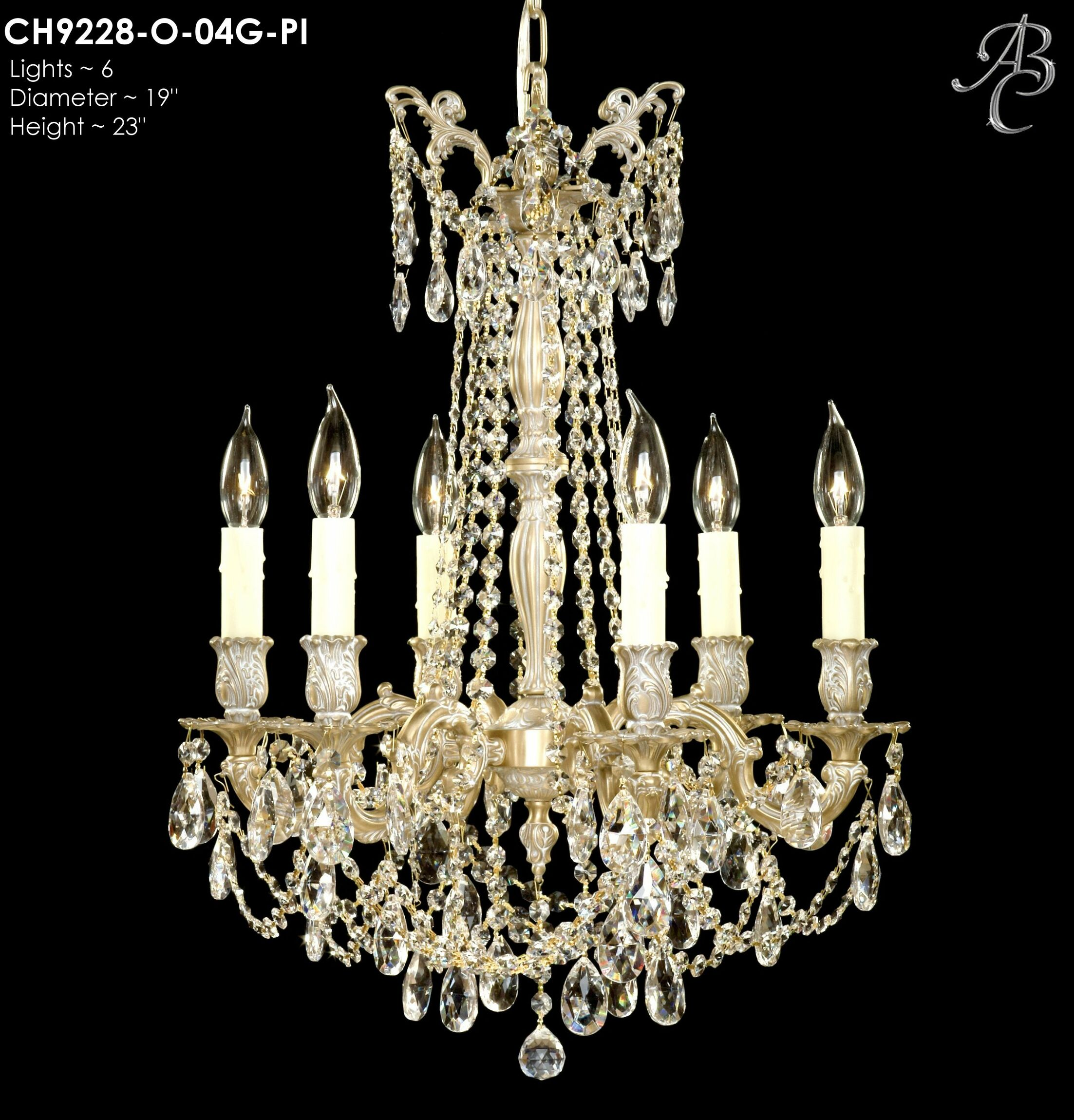 Biella 6-Light Candle Style Chandelier Finish: Polished Brass with Black Inlay, Crystal: Precision Crystal Oval Clear