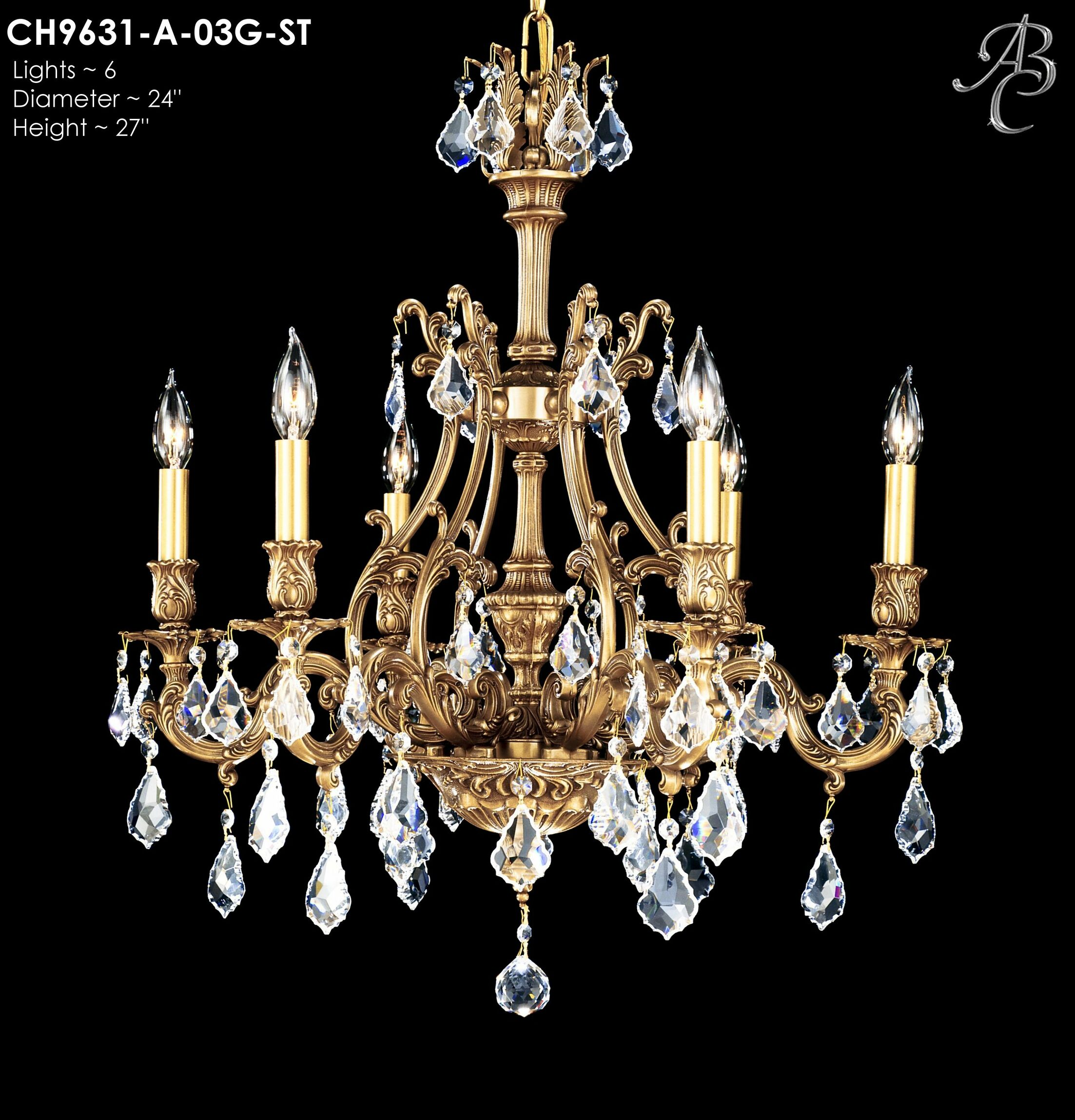 Chateau 6-Light Candle Style Chandelier Finish: Antique White Glossy, Crystal: Precision Crystal French Pendaloque Clear