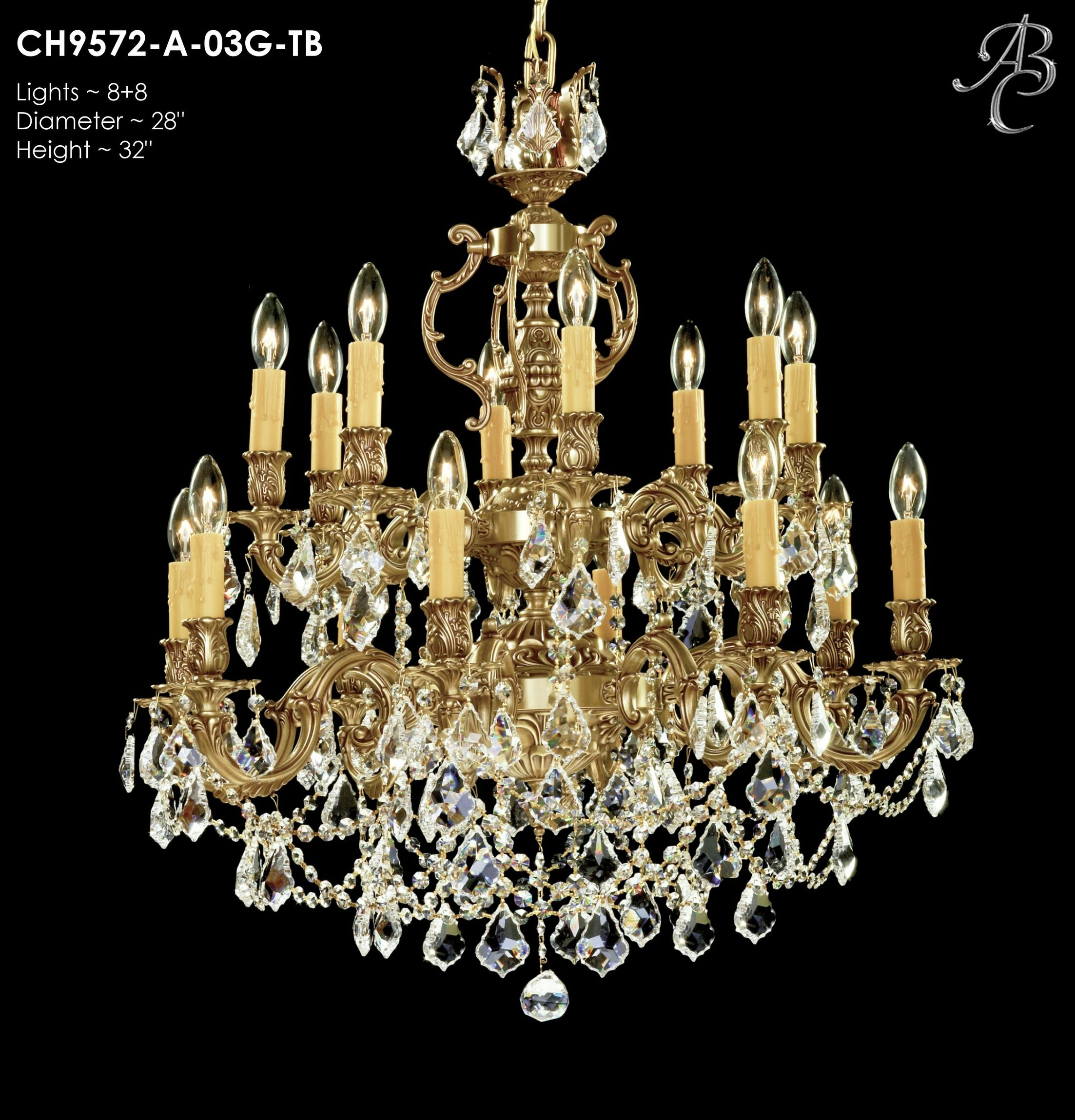 Rosetta 16-Light Candle Style Chandelier Crystal: Precision Crystal Oval Clear, Finish: Antique Black Glossy