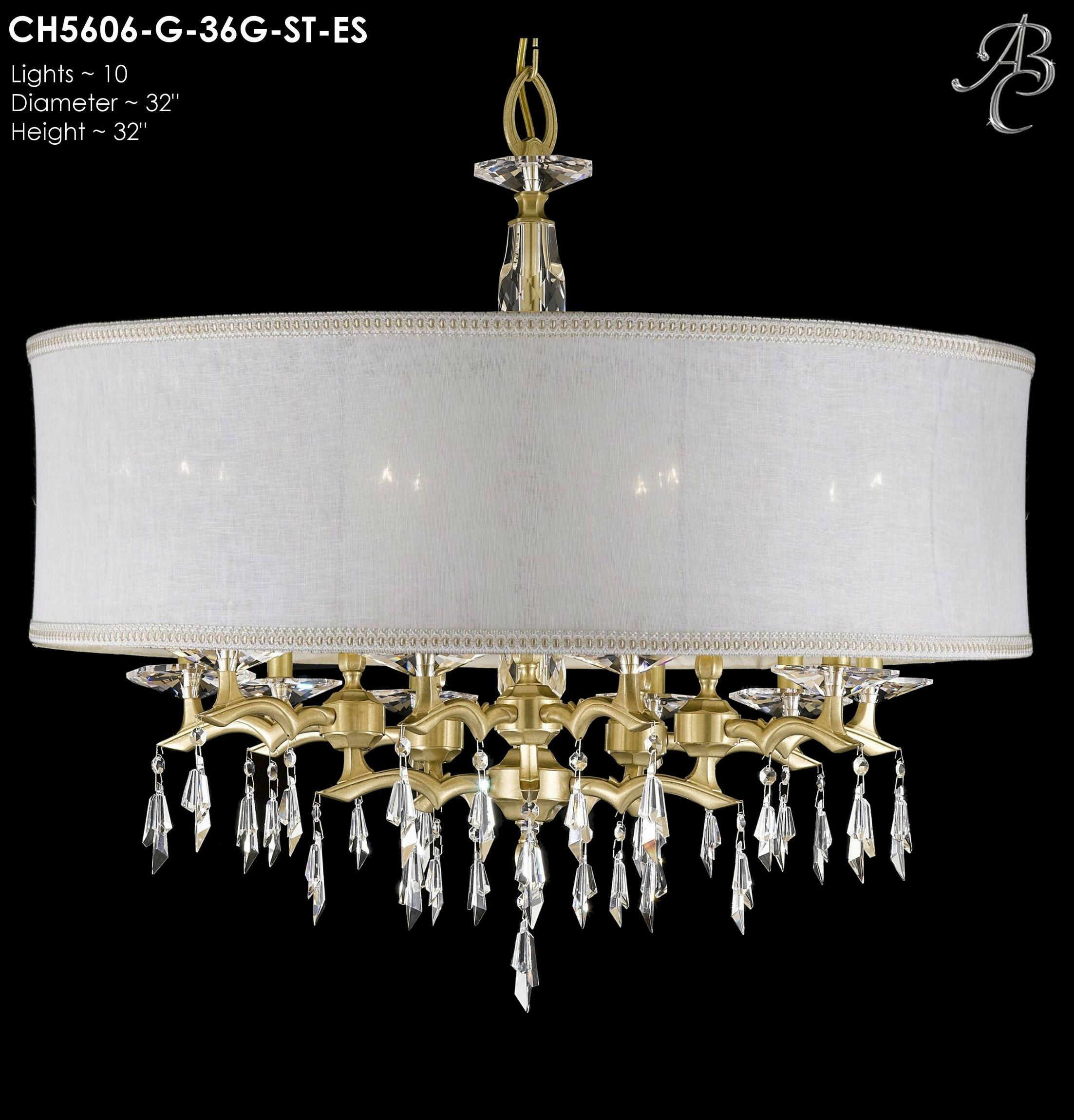 Kaya 10-Light Chandelier Shade Color: Sate Softback, Finish: Old Brass