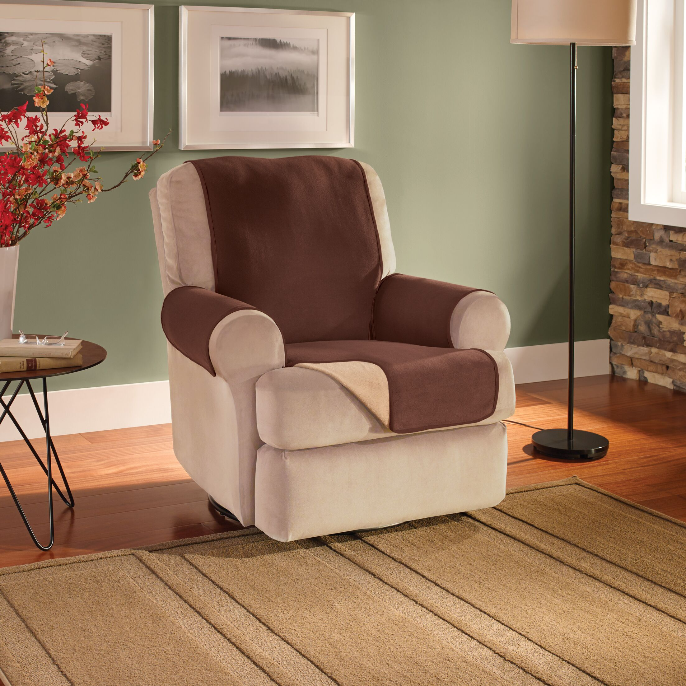 T-Cushion Recliner Slipcover Upholstery: Chocolate