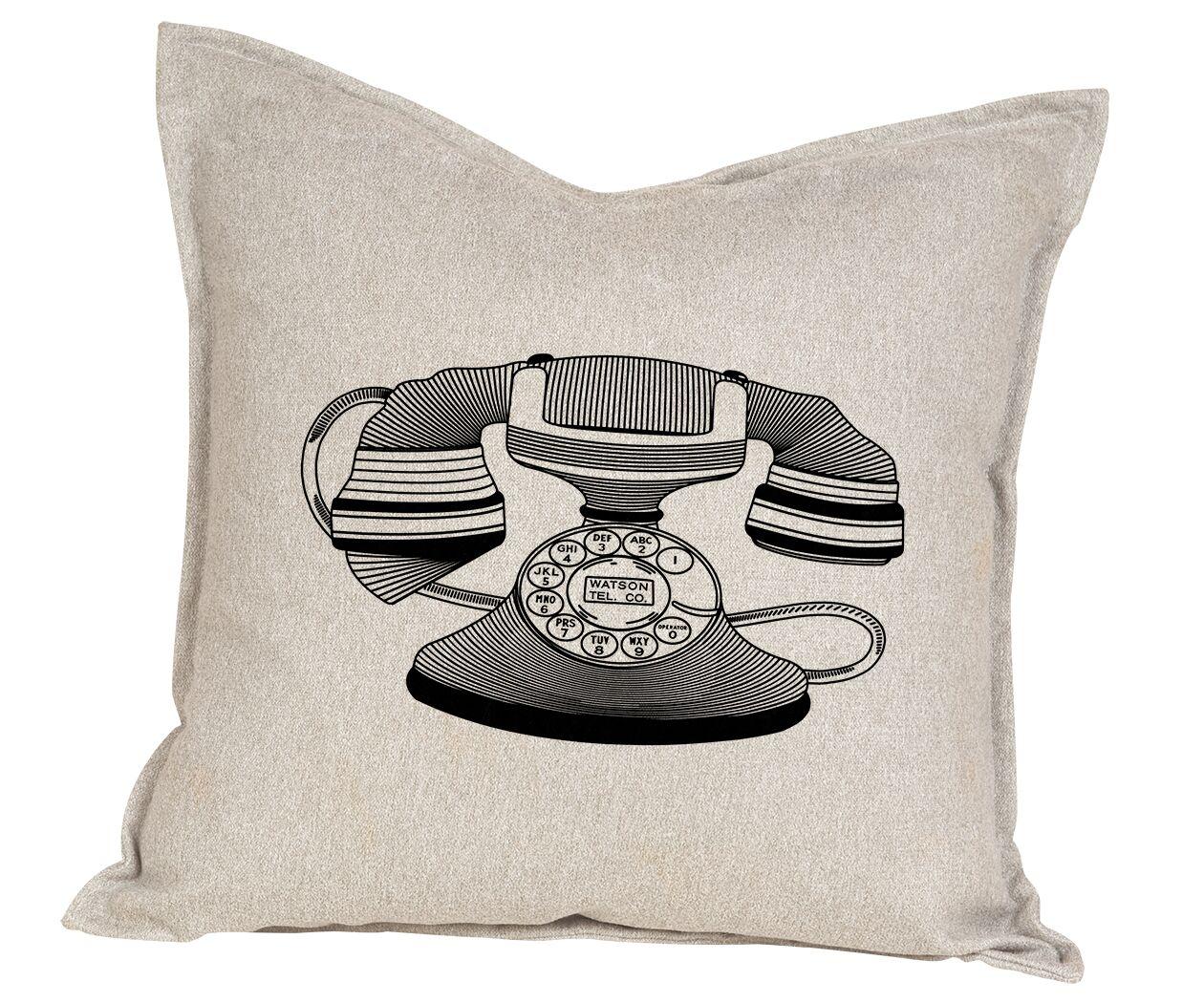 Hendren Telephone Cotton Throw Pillow