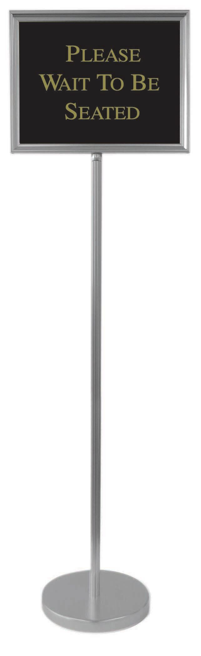 The Director Directory Stand Finish: Silver, Size: 54