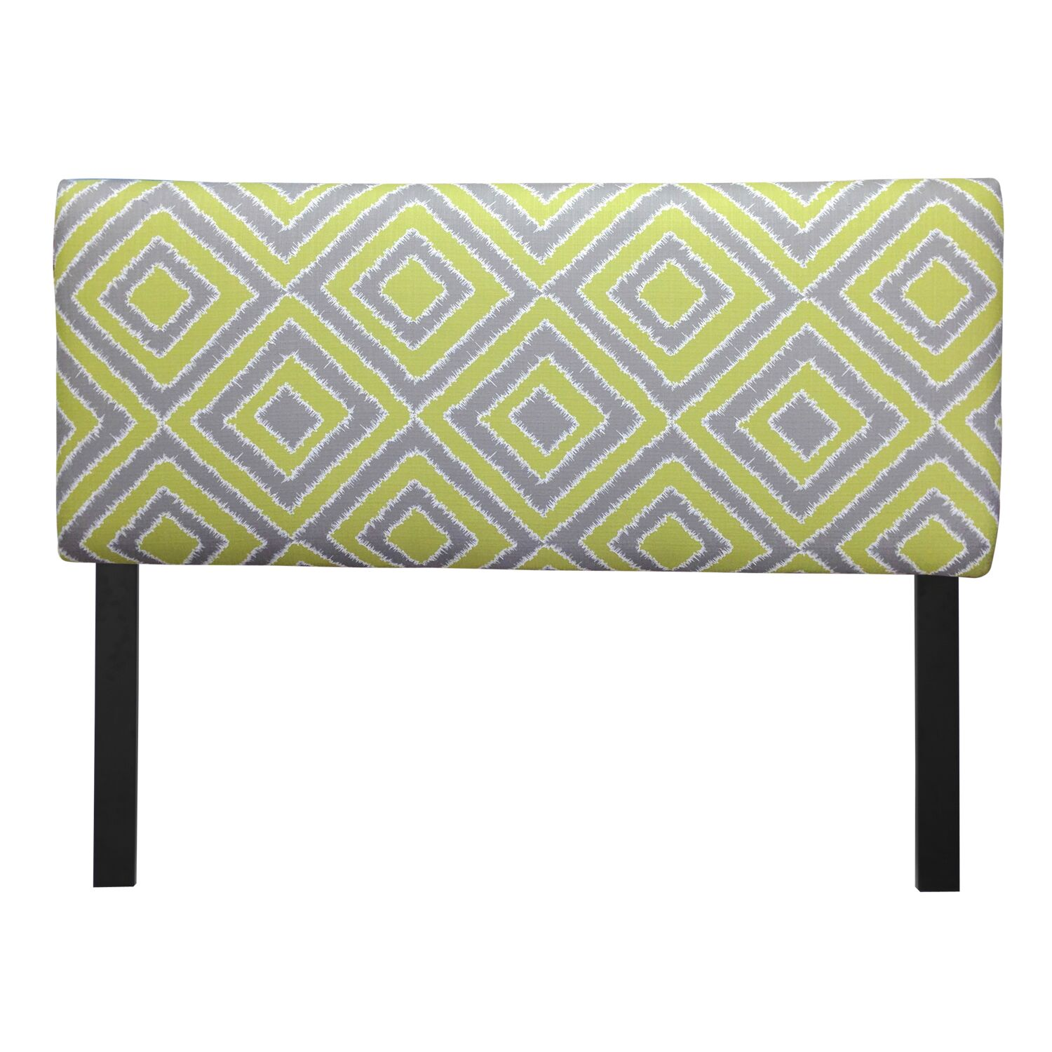 Ali Nouveau Upholstered Panel Headboard Upholstery: Wasabi, Size: Full