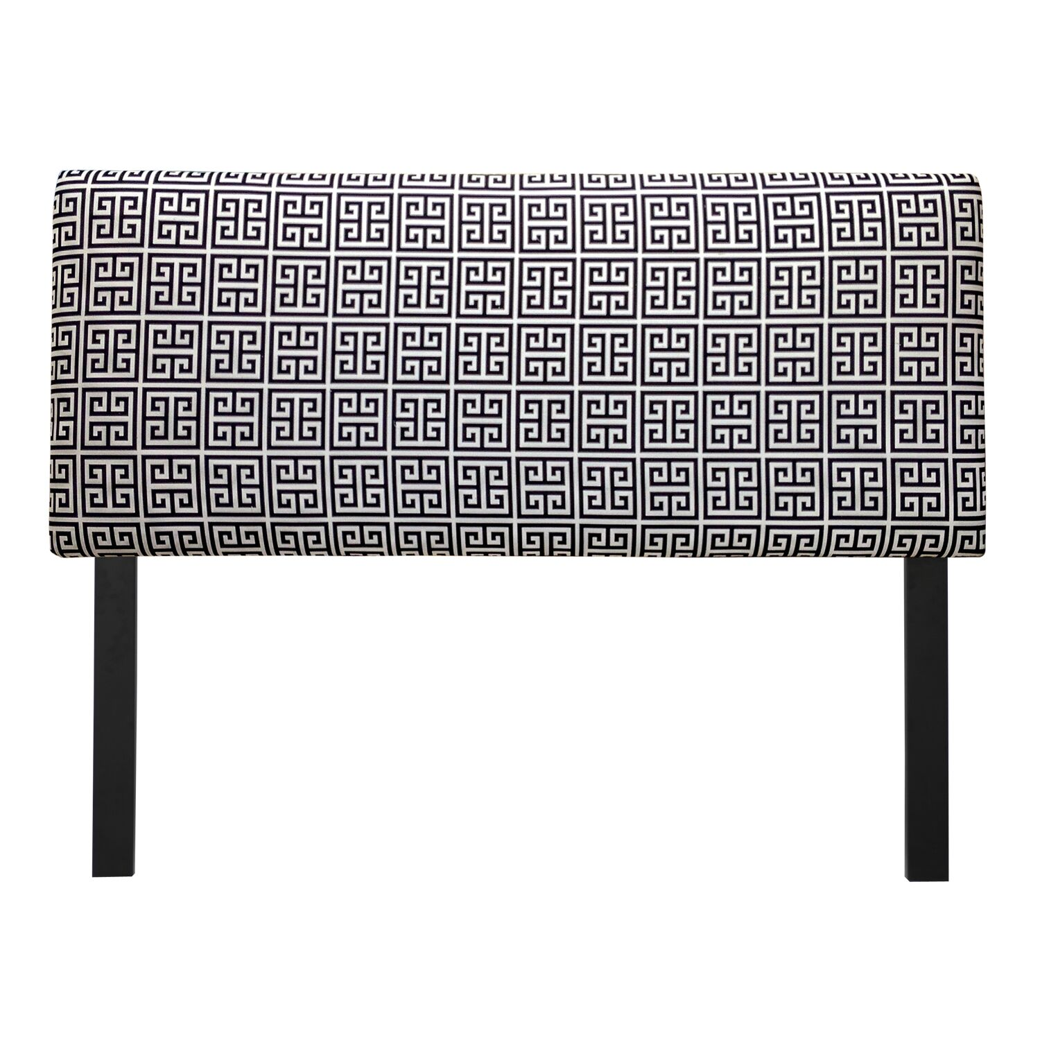 Ali Towers Upholstered Panel Headboard Upholstery: Black & White, Size: Queen