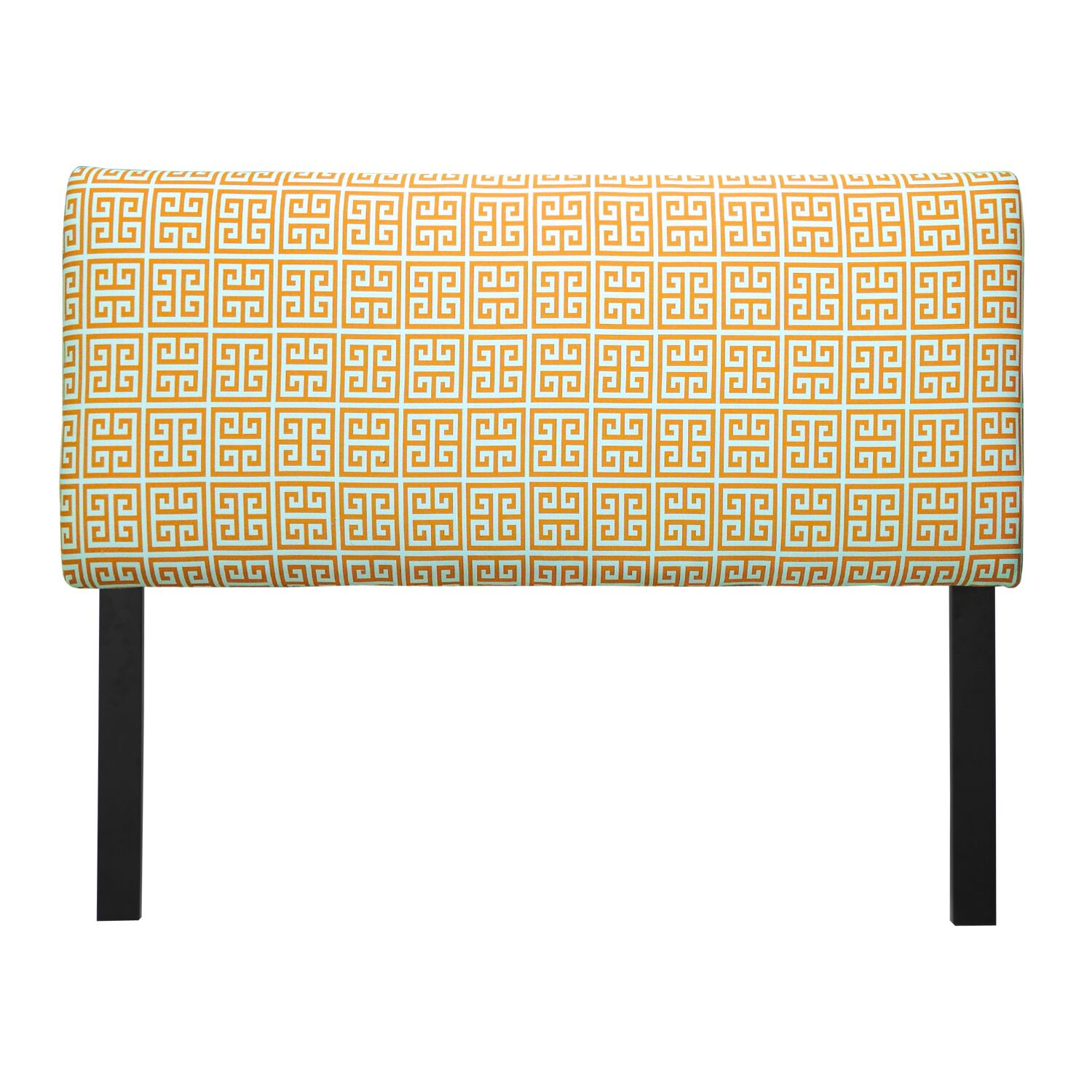 Ali Towers Upholstered Panel Headboard Upholstery: Orange, Size: California King