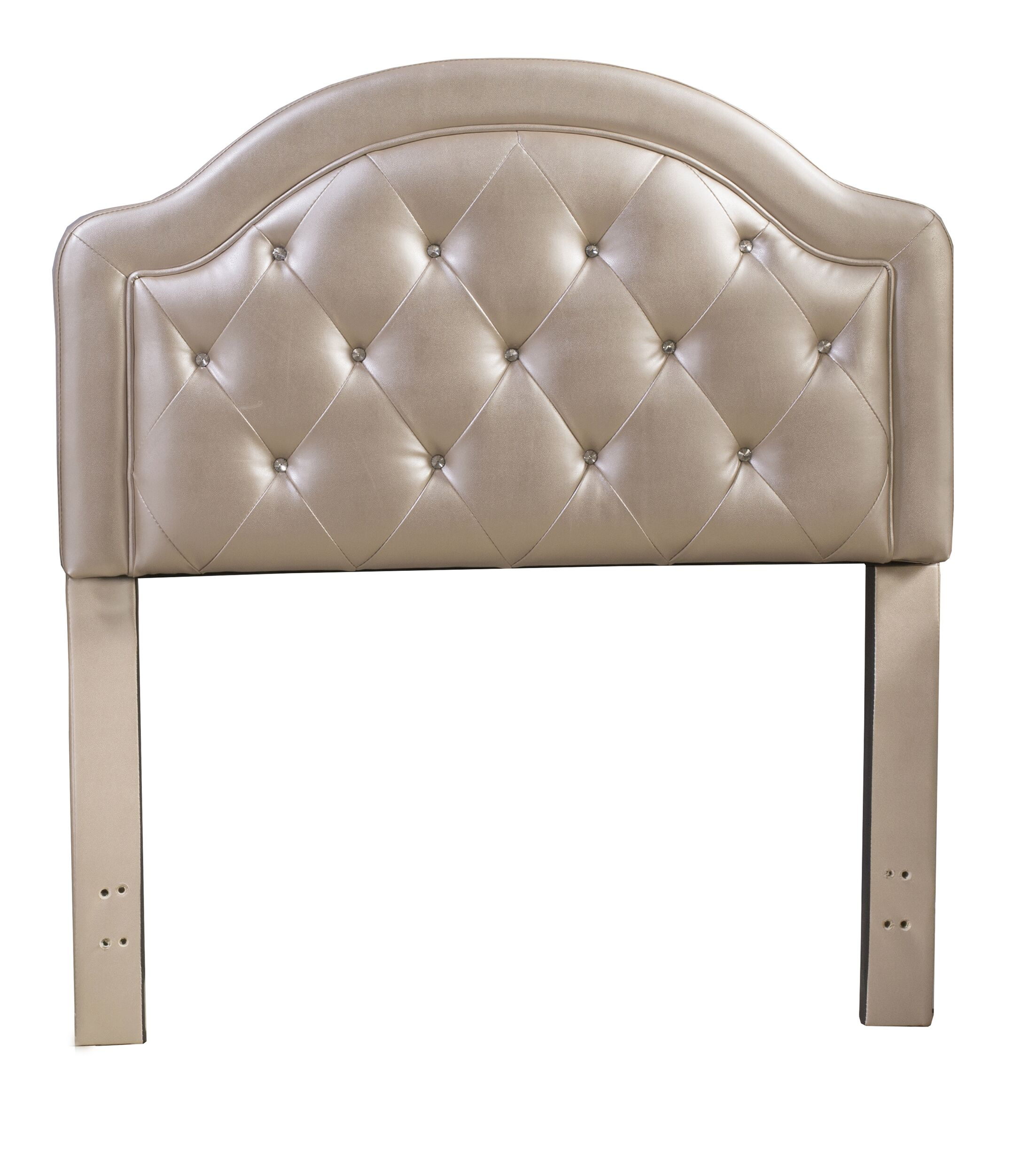 Cindy Leather Panel Headboard Color: Champagne, Size: Full