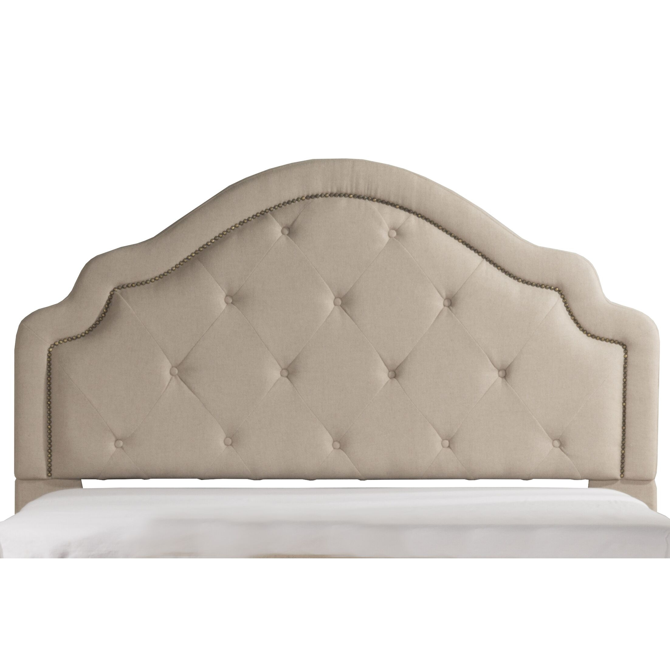 Broughtonville Tufted Upholstered Panel Headboard Upholstery: Natural, Size: Queen