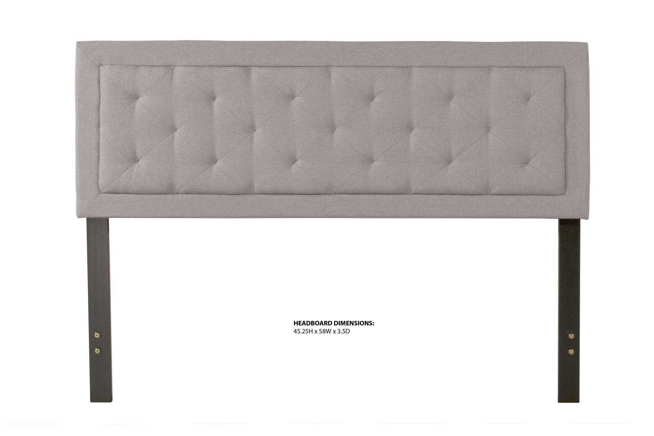 Keesler Upholstered Panel Headboard Size: Queen, Upholstery: Stone