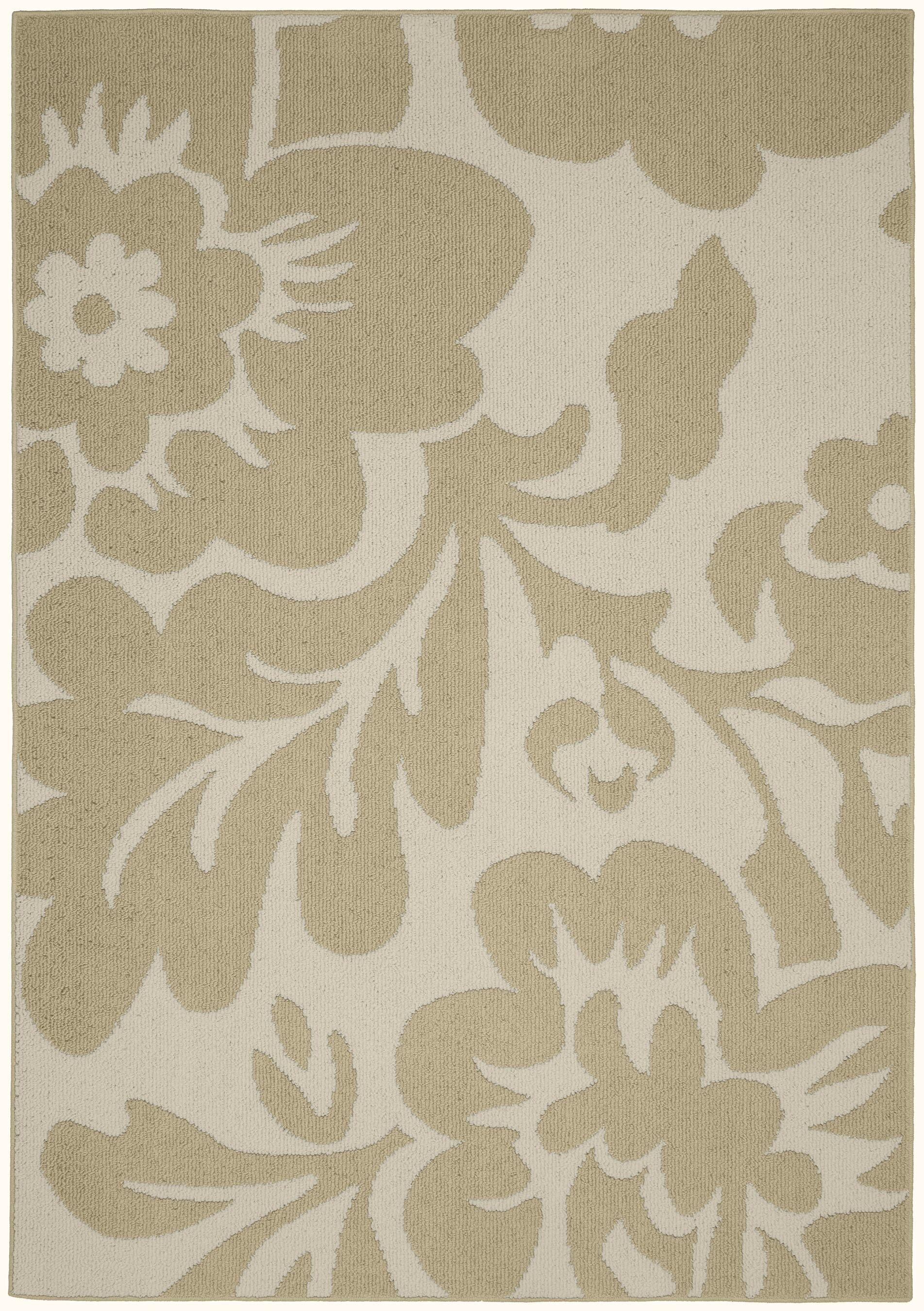 Floral Garden Tan/Ivory Area Rug Rug Size: 8' x 10'