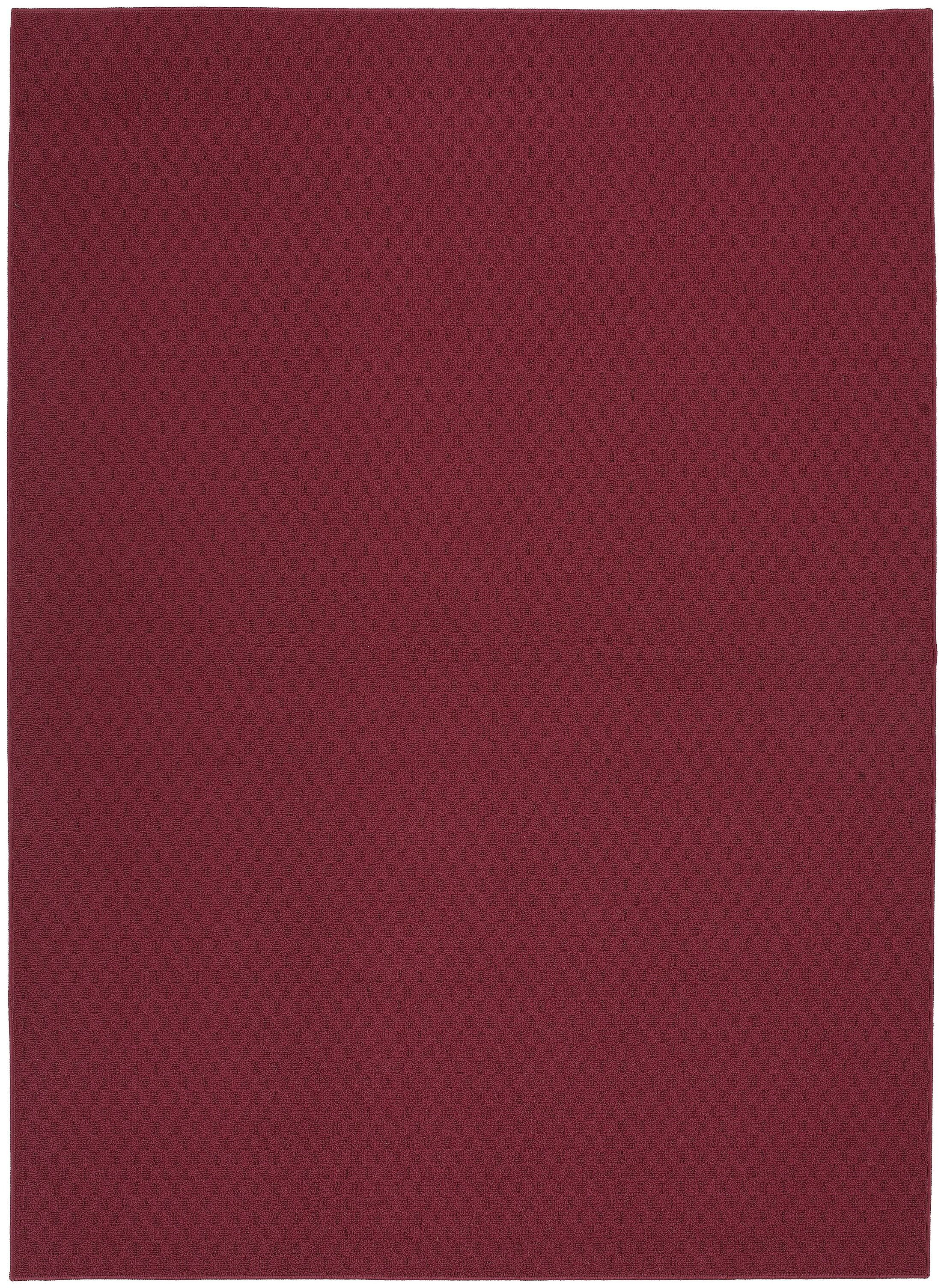 Chili Red Town Square Area Rug Rug Size: 7'6