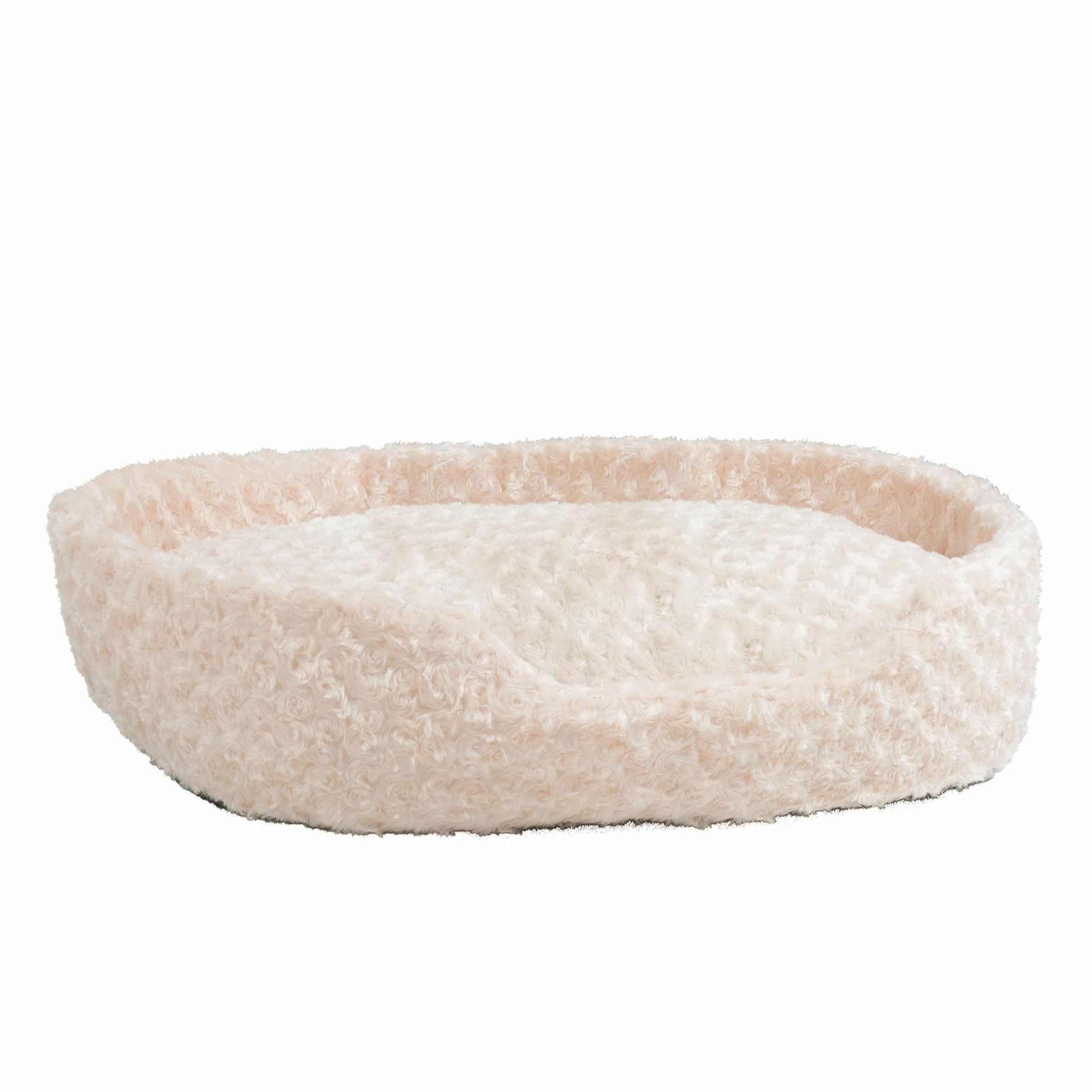 Calvin Cuddle Round Plush Bolster with Open Front Size: Large (34