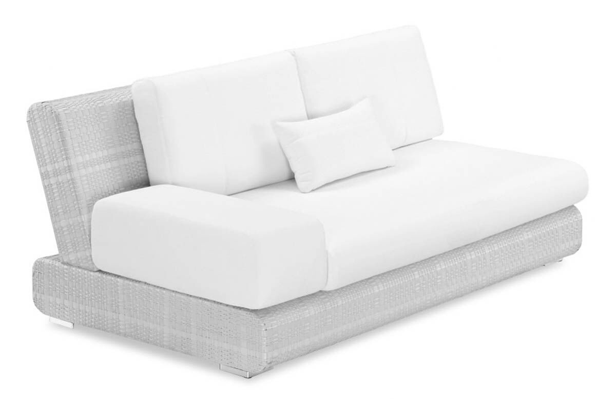 Sumba Loveseat with Cushions Loveseat Fabric: Sunproof White