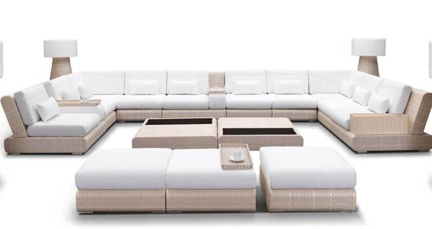 Sumba Sectional Sunbrella Seating Group with Cushion