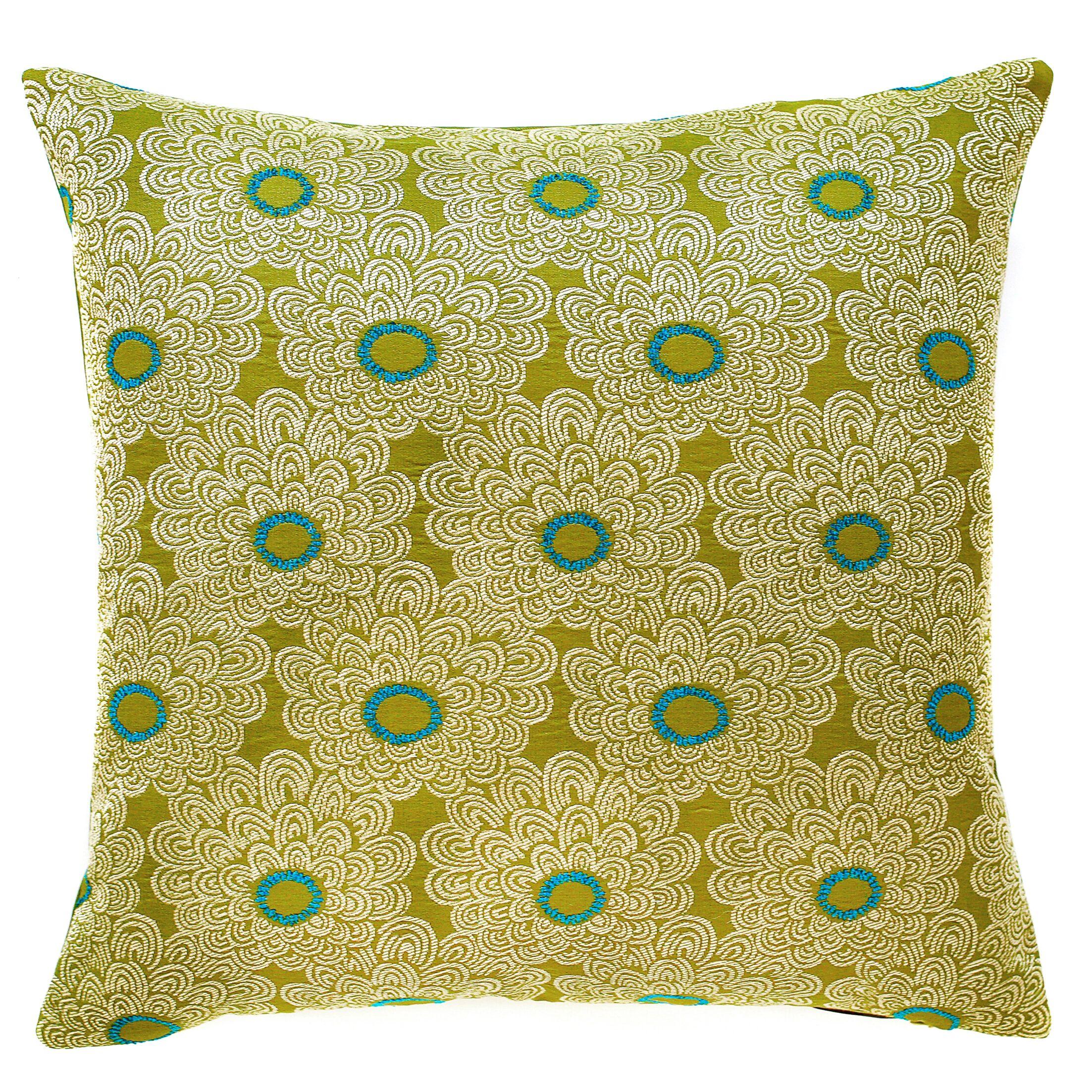 Palermo Throw Pillow Color: Kiwi