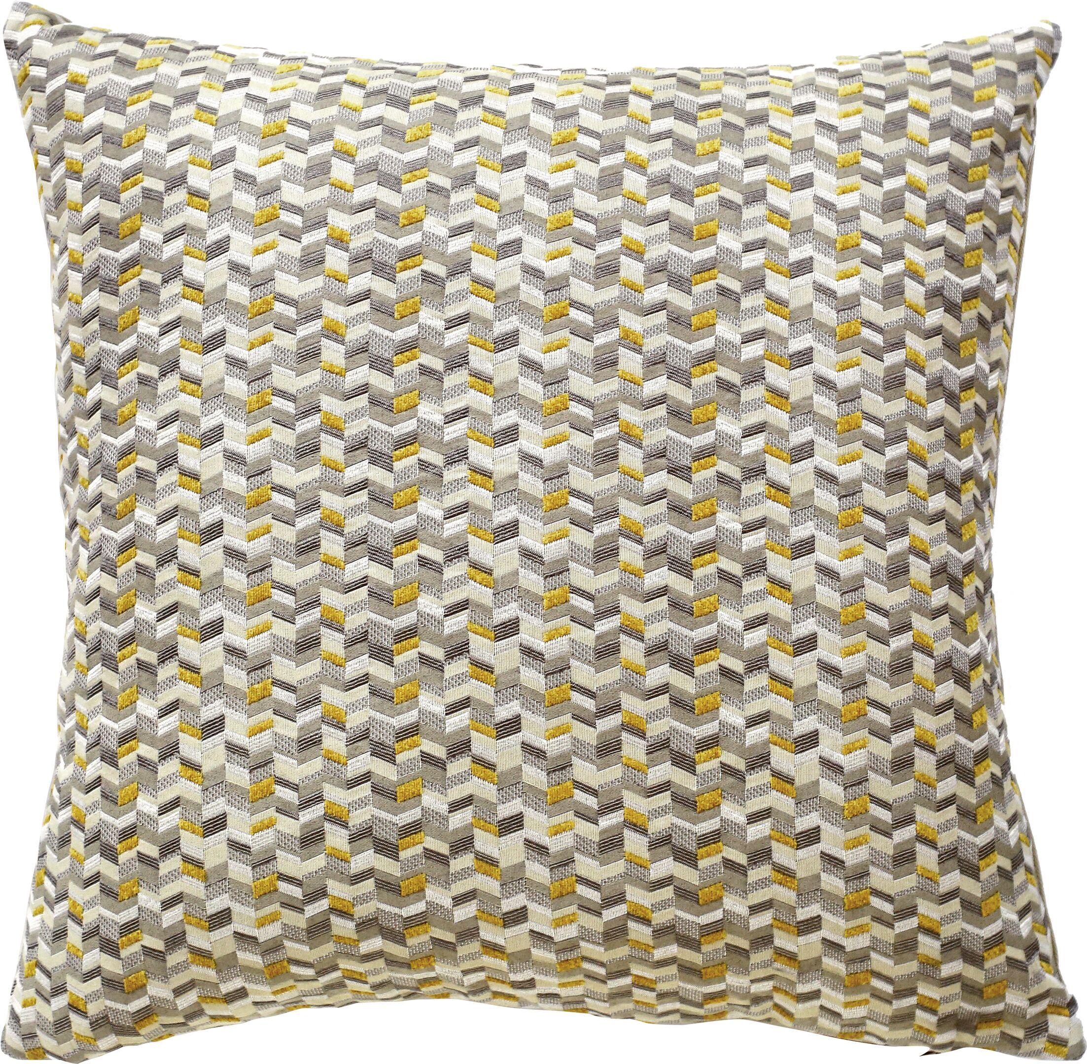 Kyoto Throw Pillow Color: Citron
