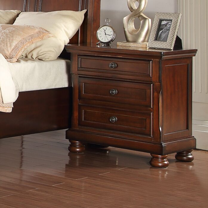 American Heritage 3 Drawer Nightstand