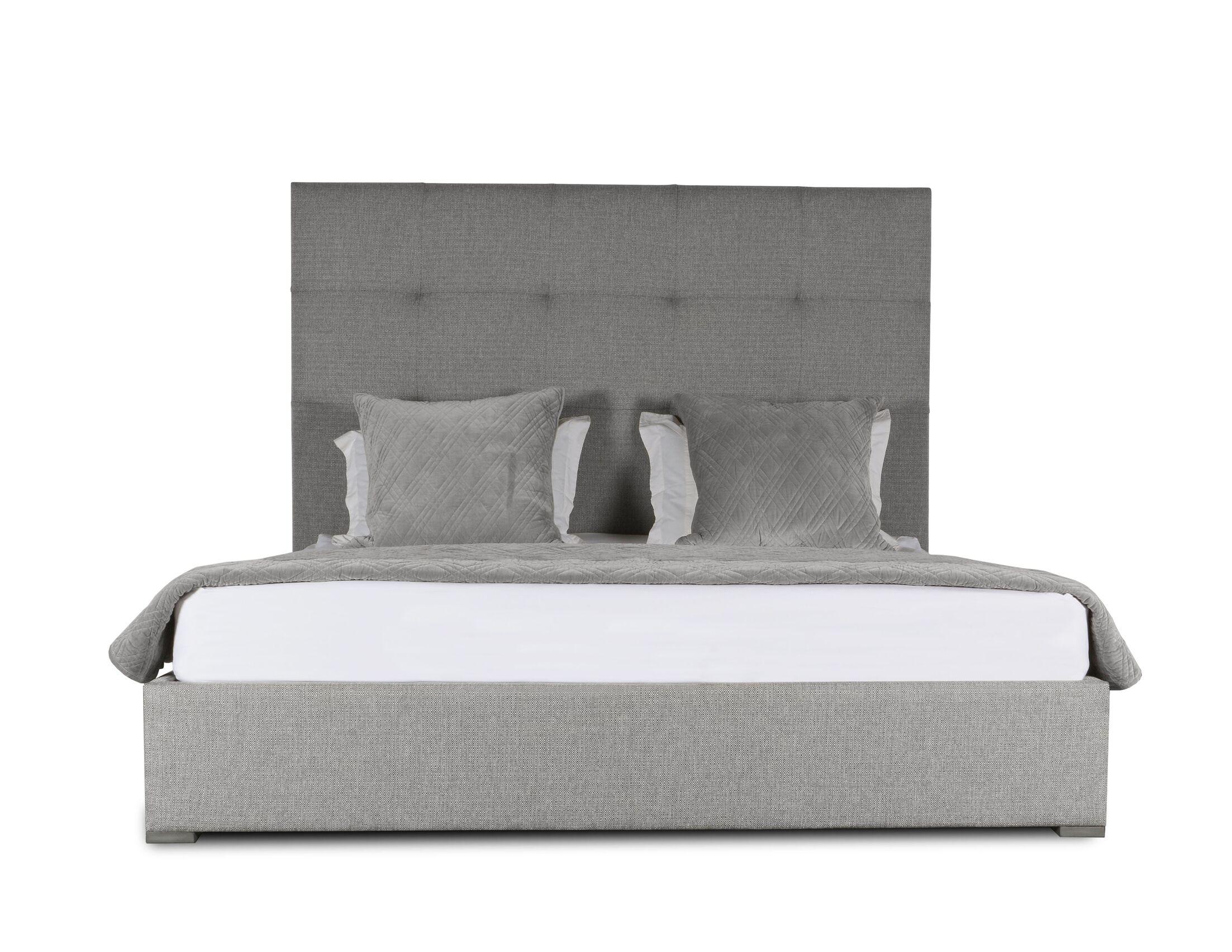 Handley Upholstered Platform Bed Color: Gray, Size: High Height King