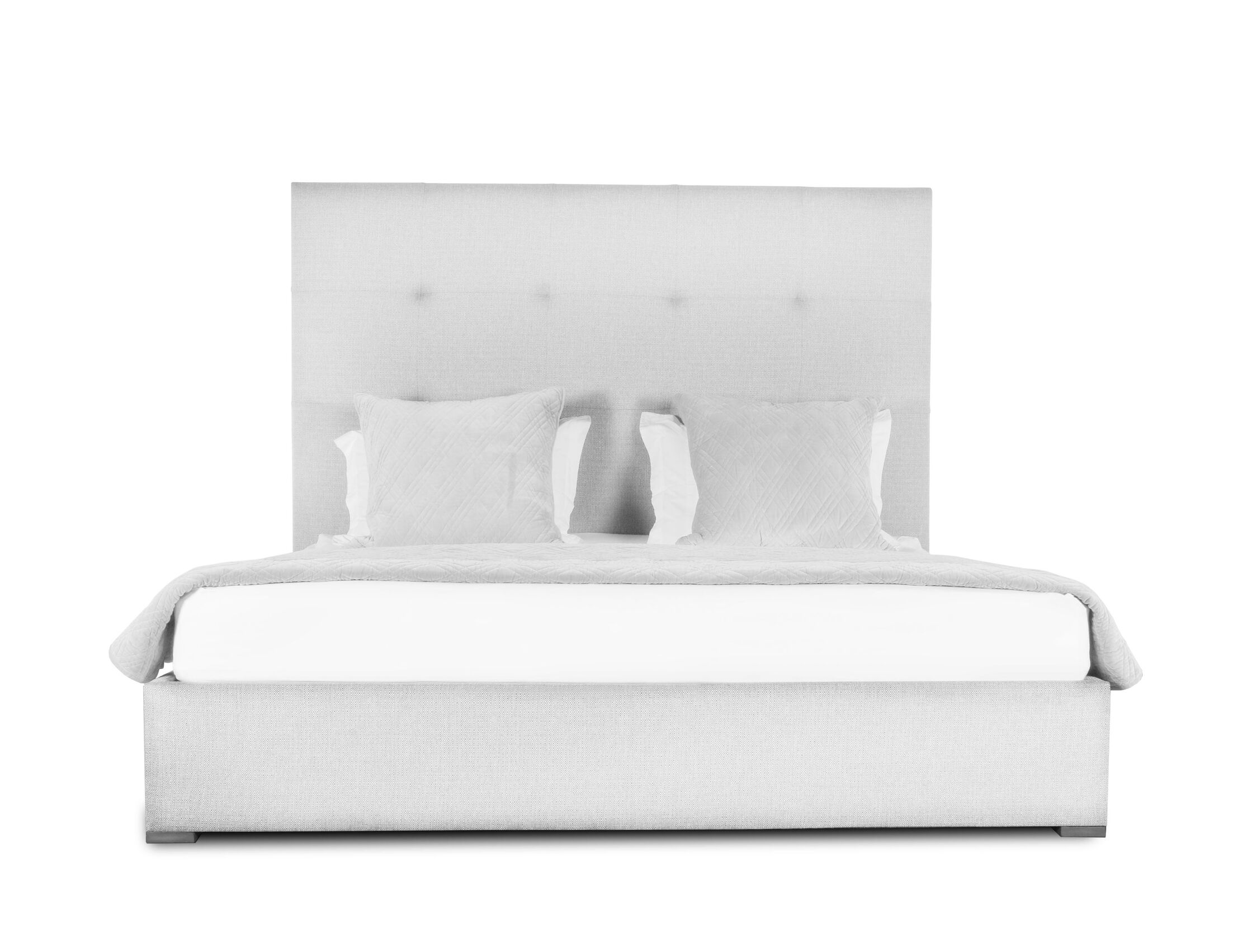 Handley Upholstered Platform Bed Size: High Height King, Color: White