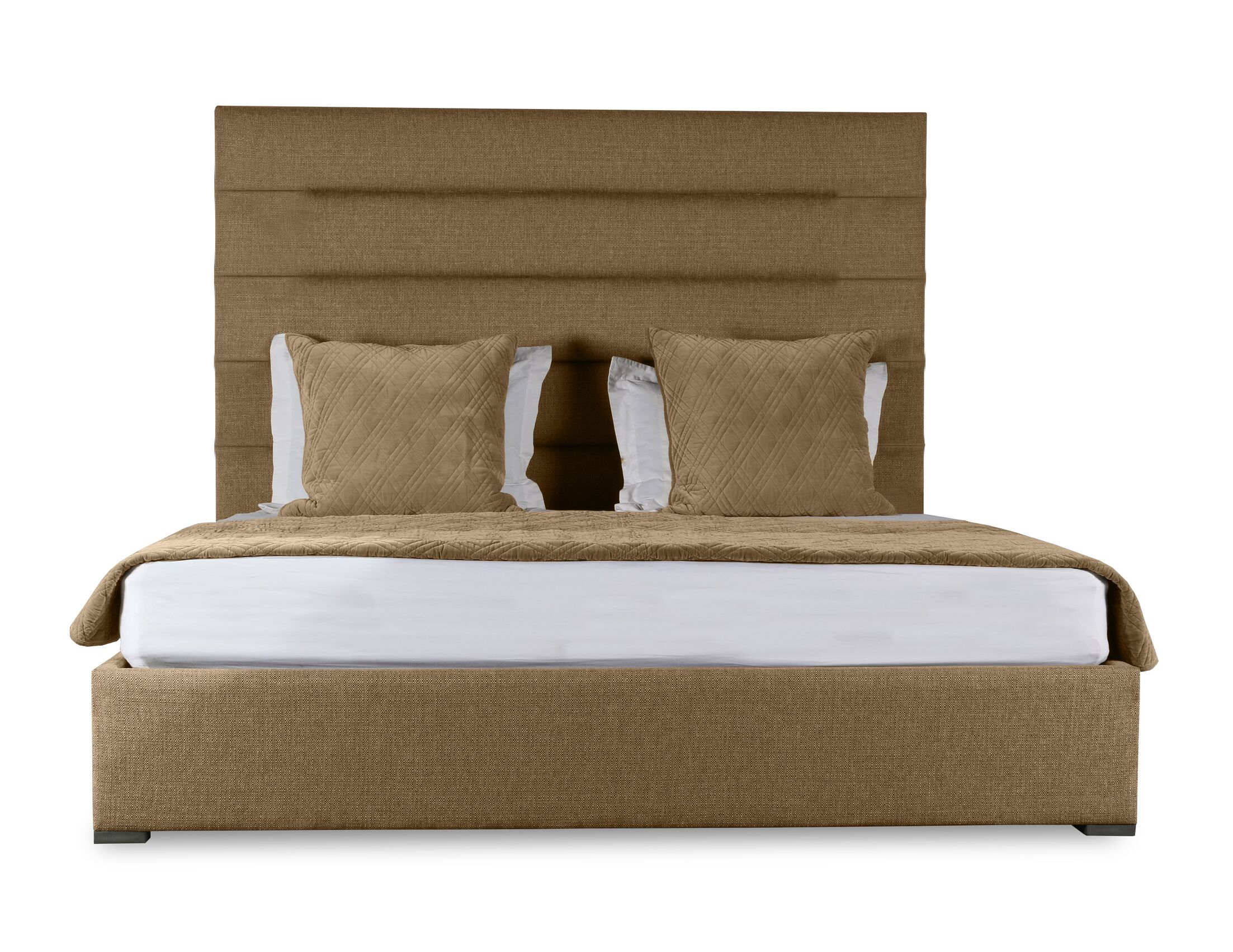 Handley Upholstered Panel Bed Color: Brown, Size: Mid Height Queen
