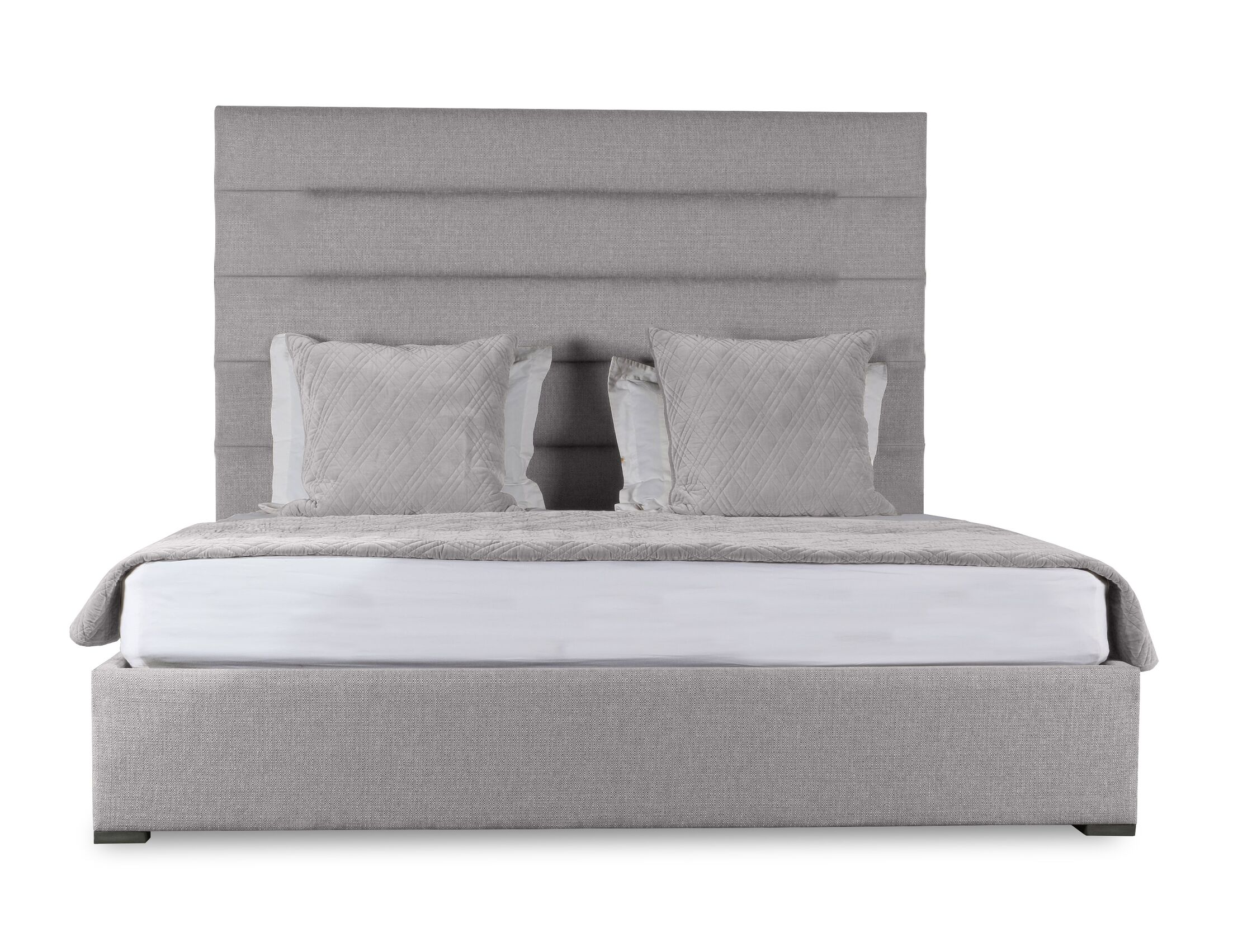 Handley Upholstered Panel Bed Color: Gray, Size: High Height King
