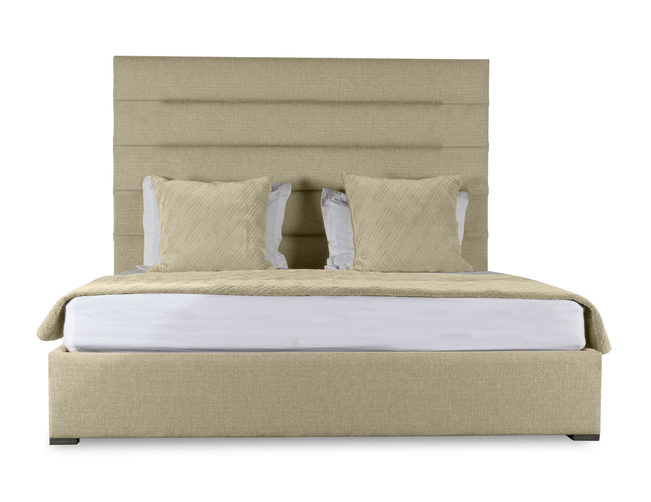 Handley Upholstered Panel Bed Size: High Height King, Color: Sand