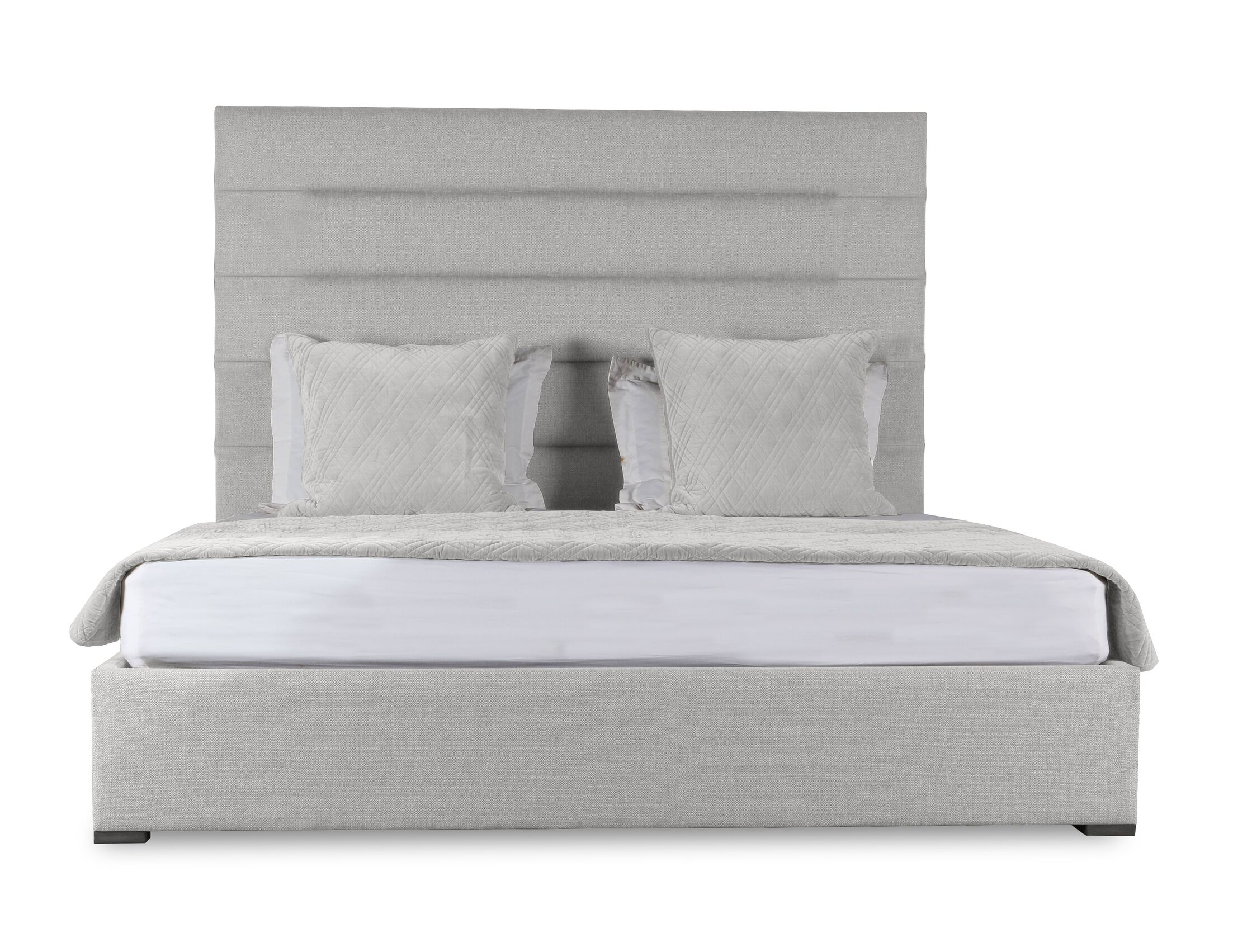 Handley Upholstered Panel Bed Size: Mid Height California King, Color: White
