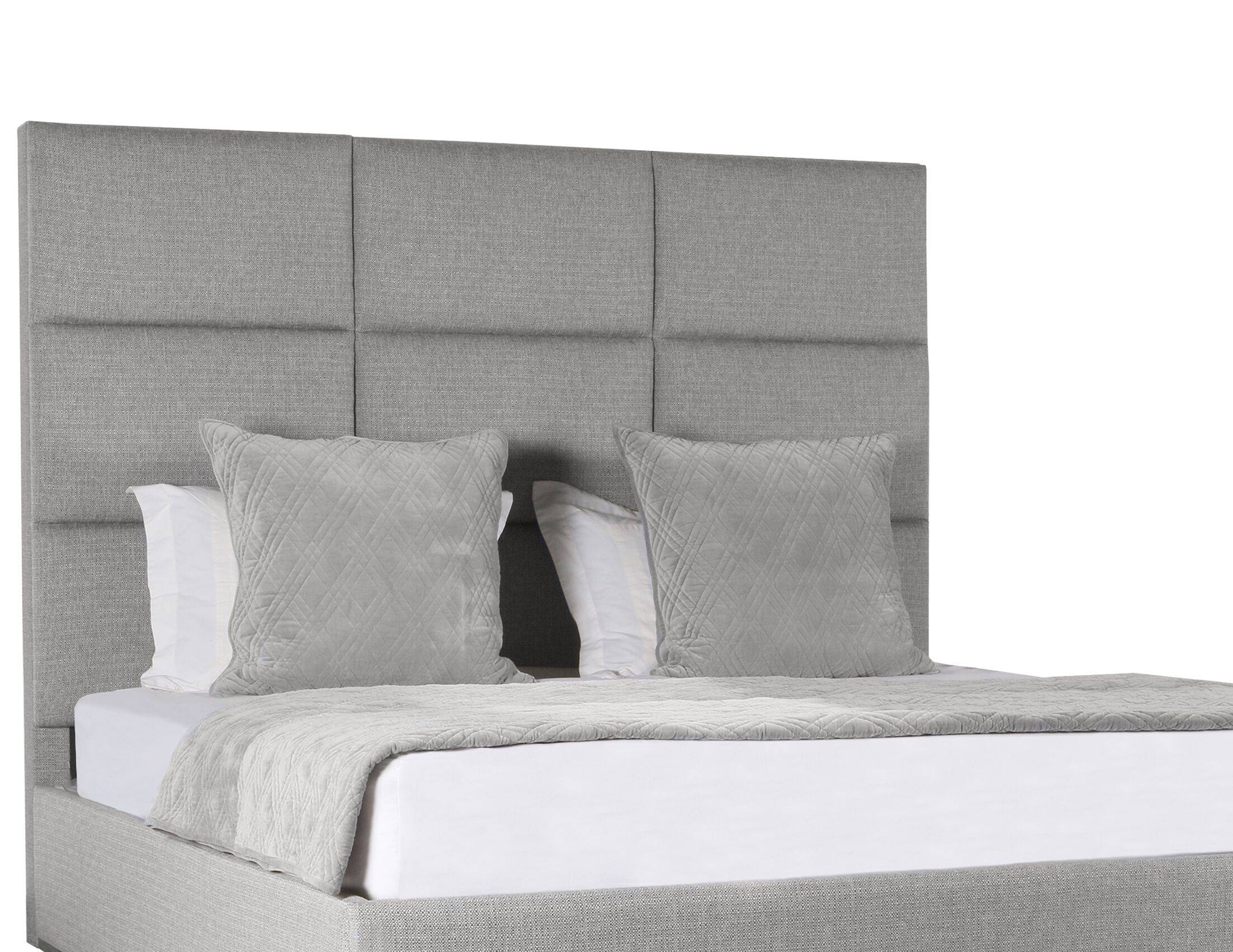 Handley Upholstered Panel Bed Color: Gray, Size: High Height California King