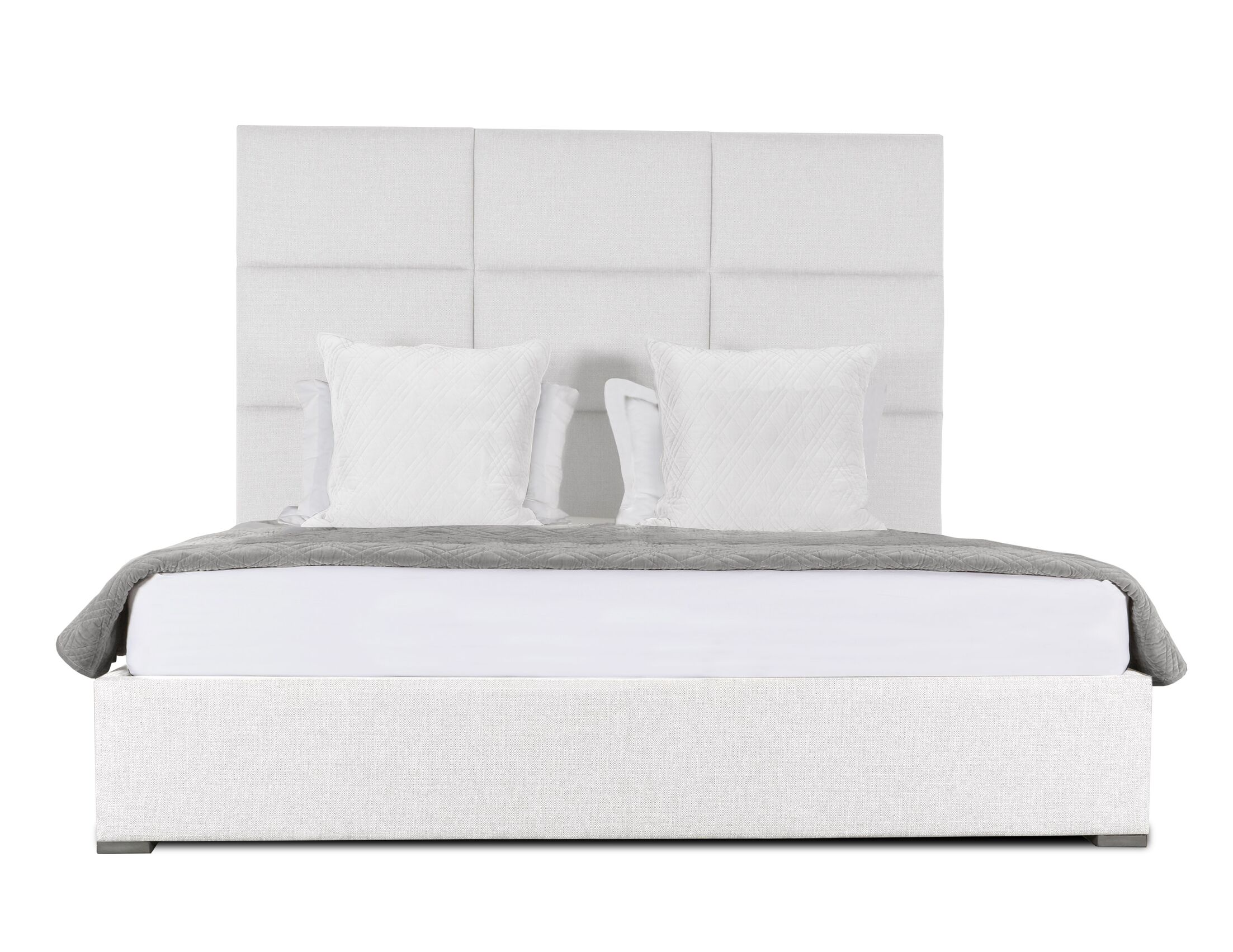 Handley Upholstered Panel Bed Size: High Height King, Color: White