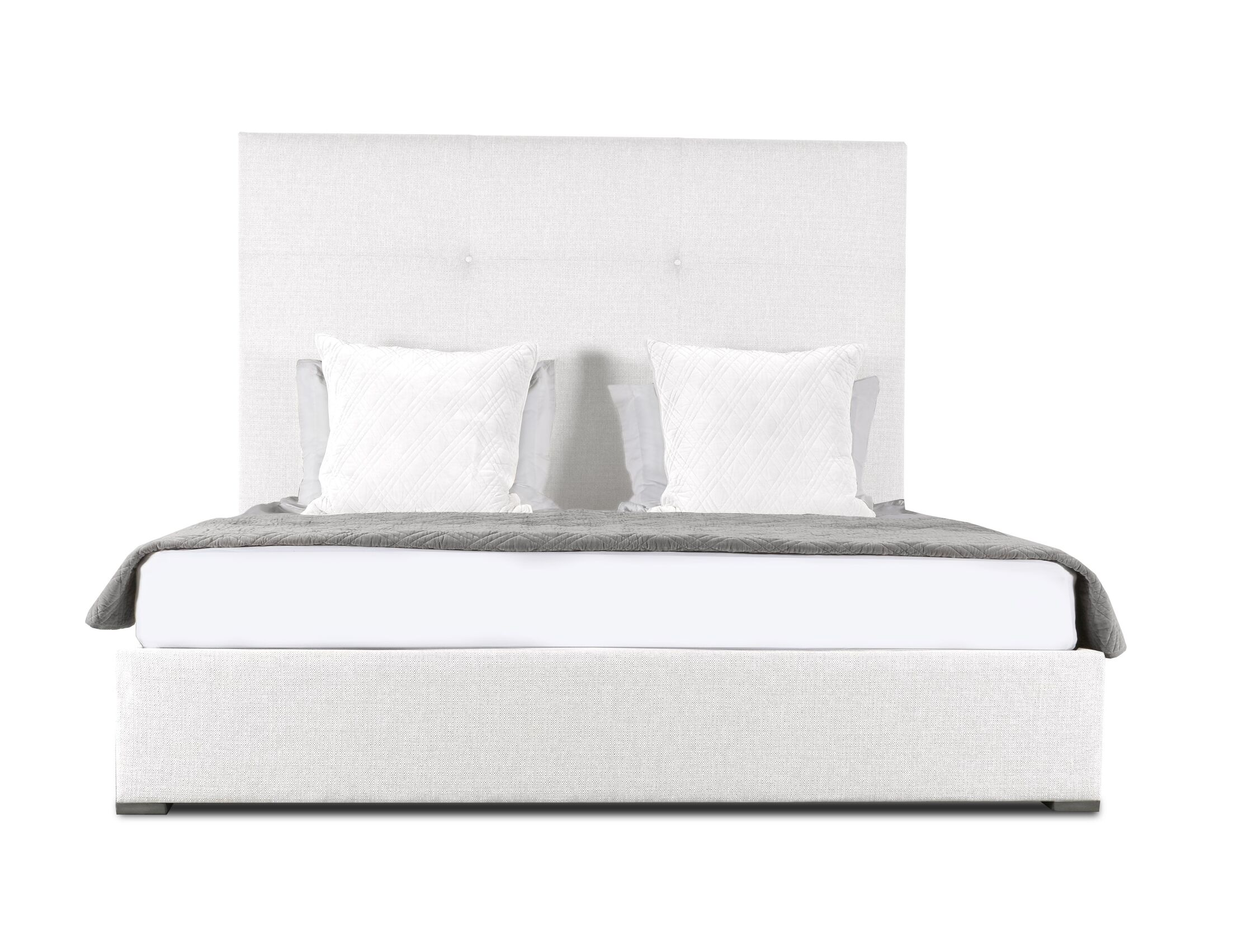 Handley Upholstered Panel Bed Size: Mid Height King, Color: White