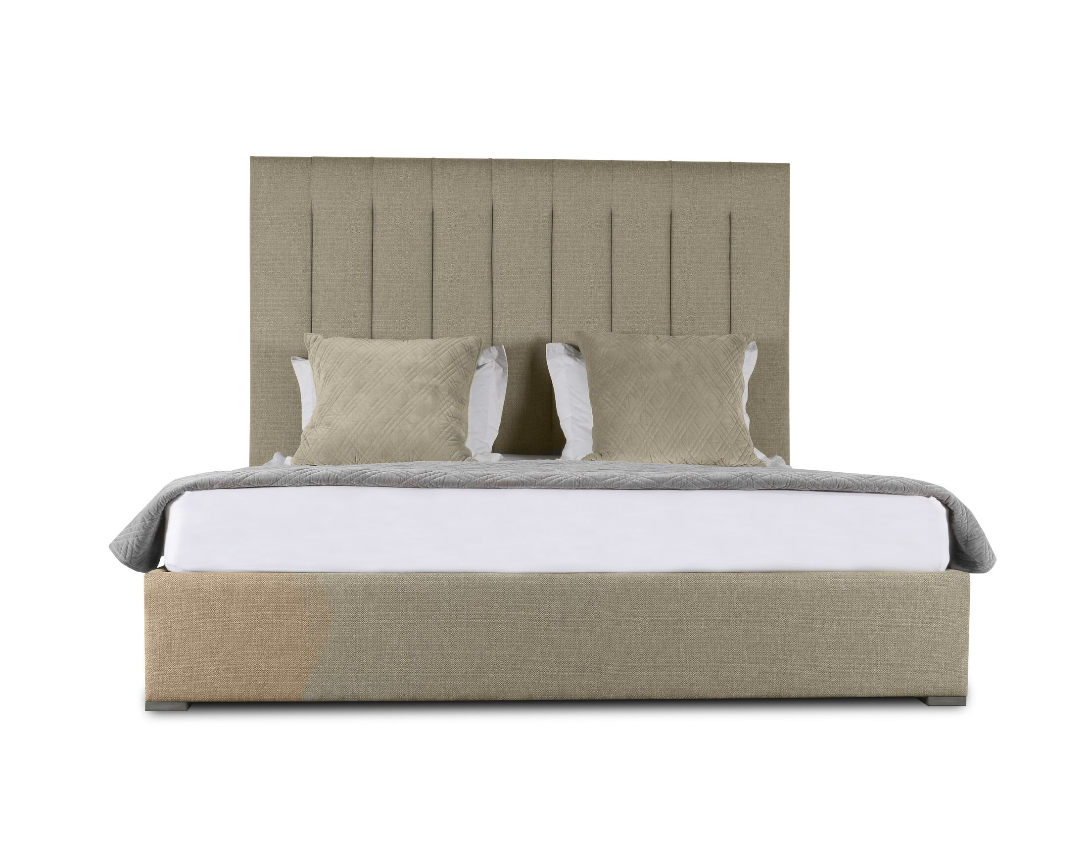 Handley Upholstered Panel Bed Size: High Height Queen, Color: Sand
